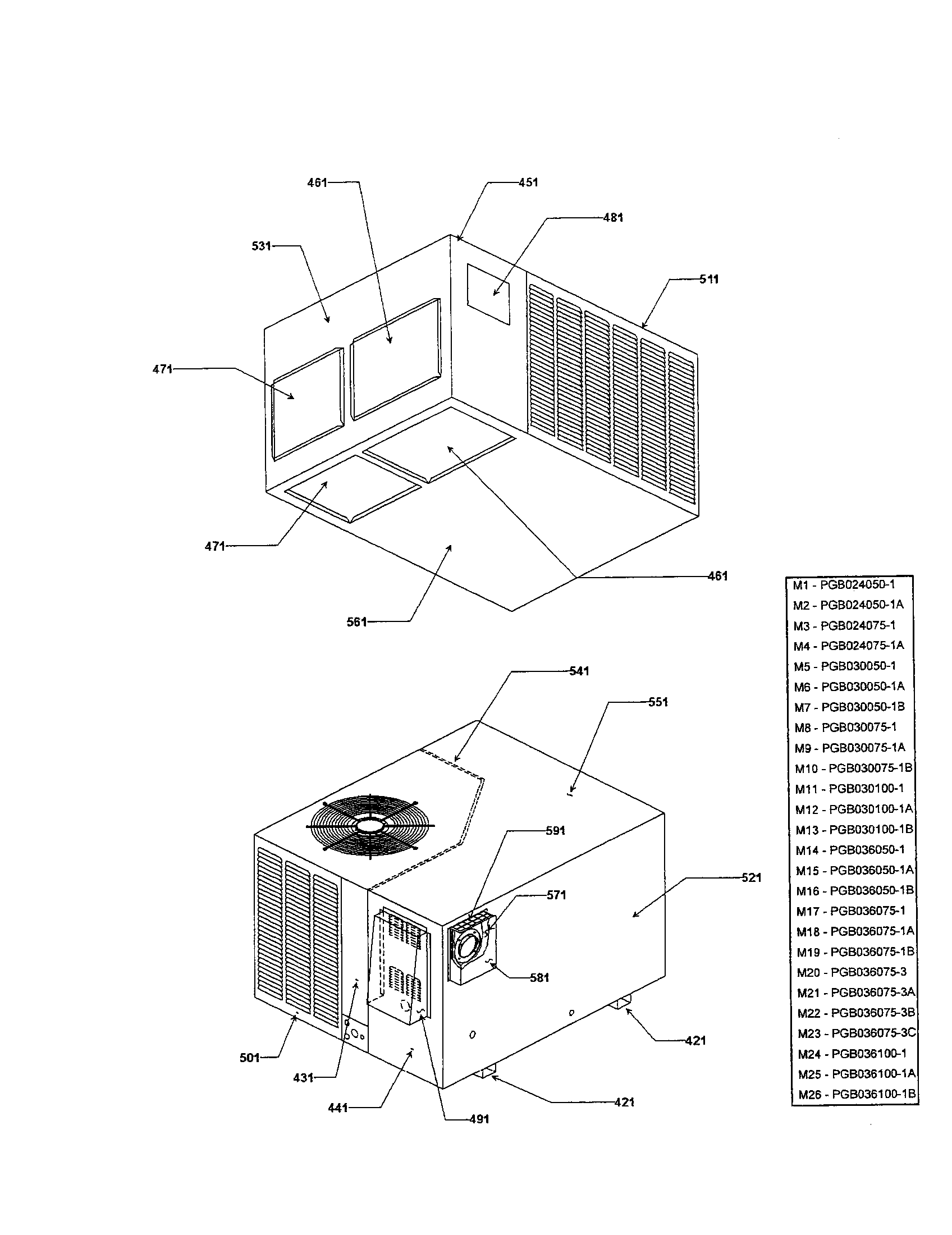 Goodman model PGB030100-1 package units(both units