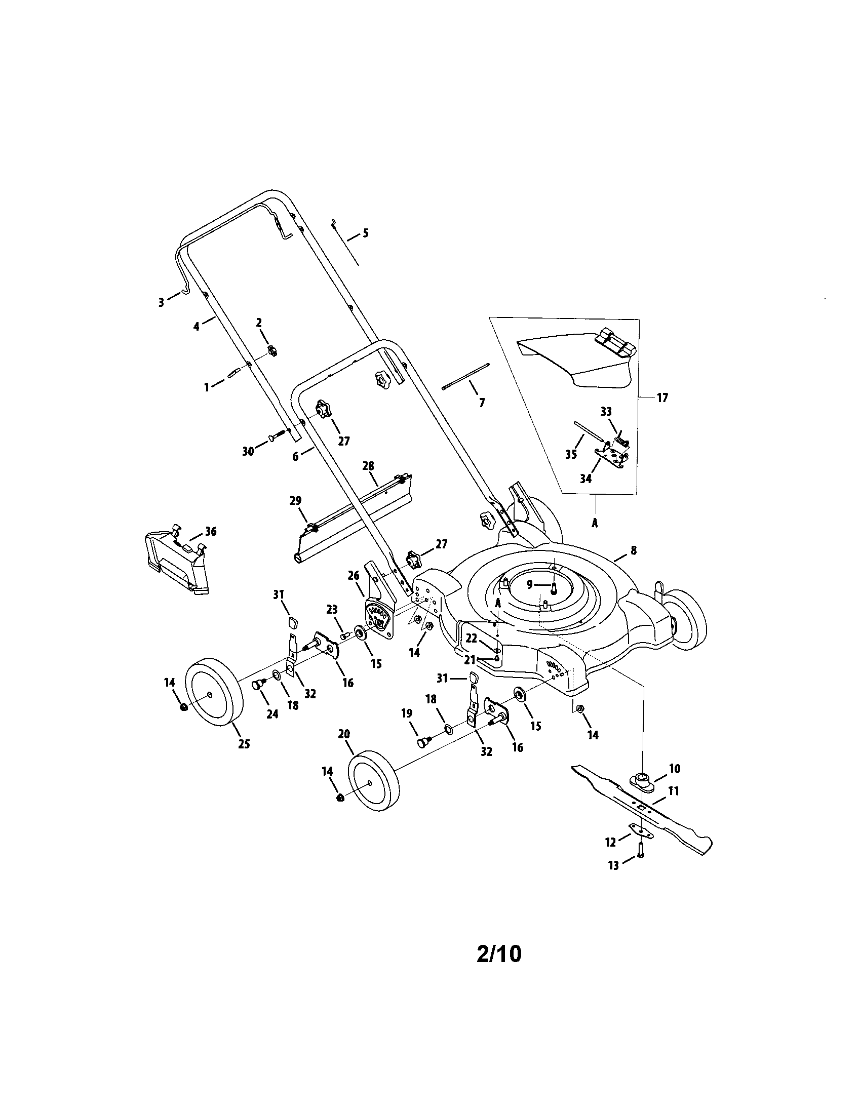 Mtd model 080 walk behind lawnmower, gas genuine parts