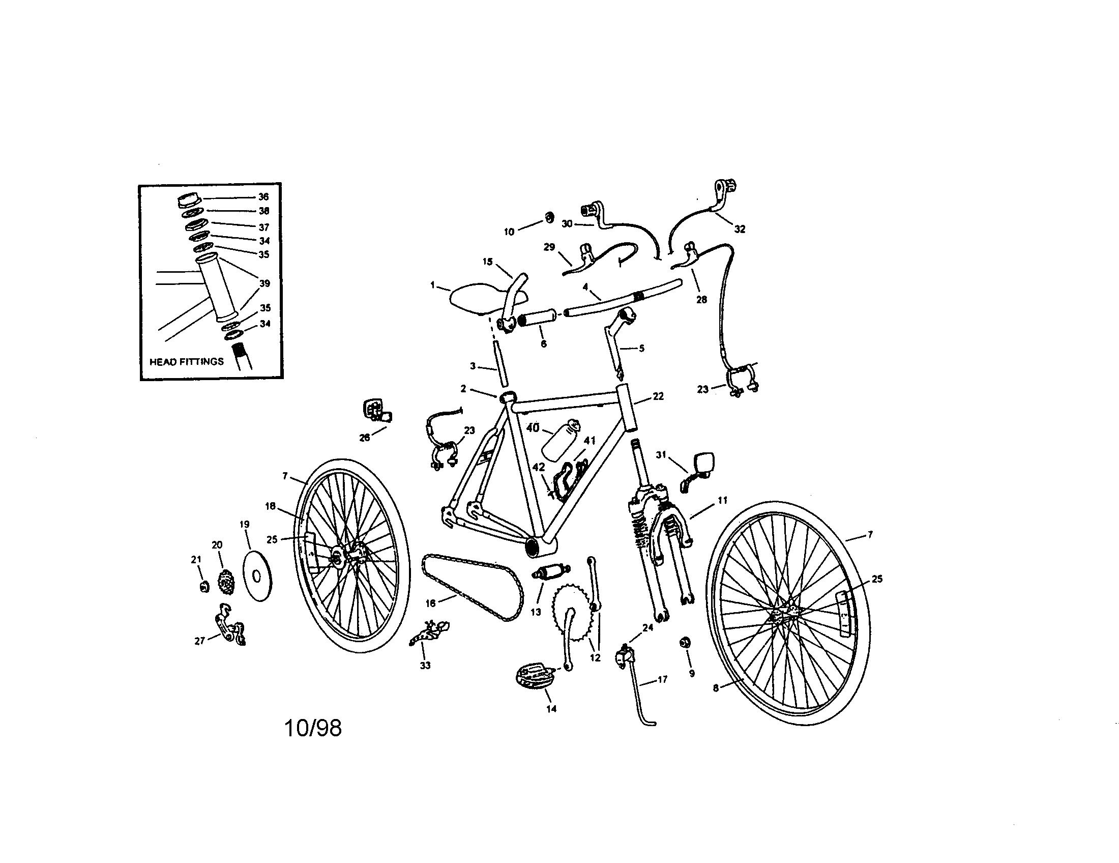Roadmaster model 4438SR bicycles genuine parts