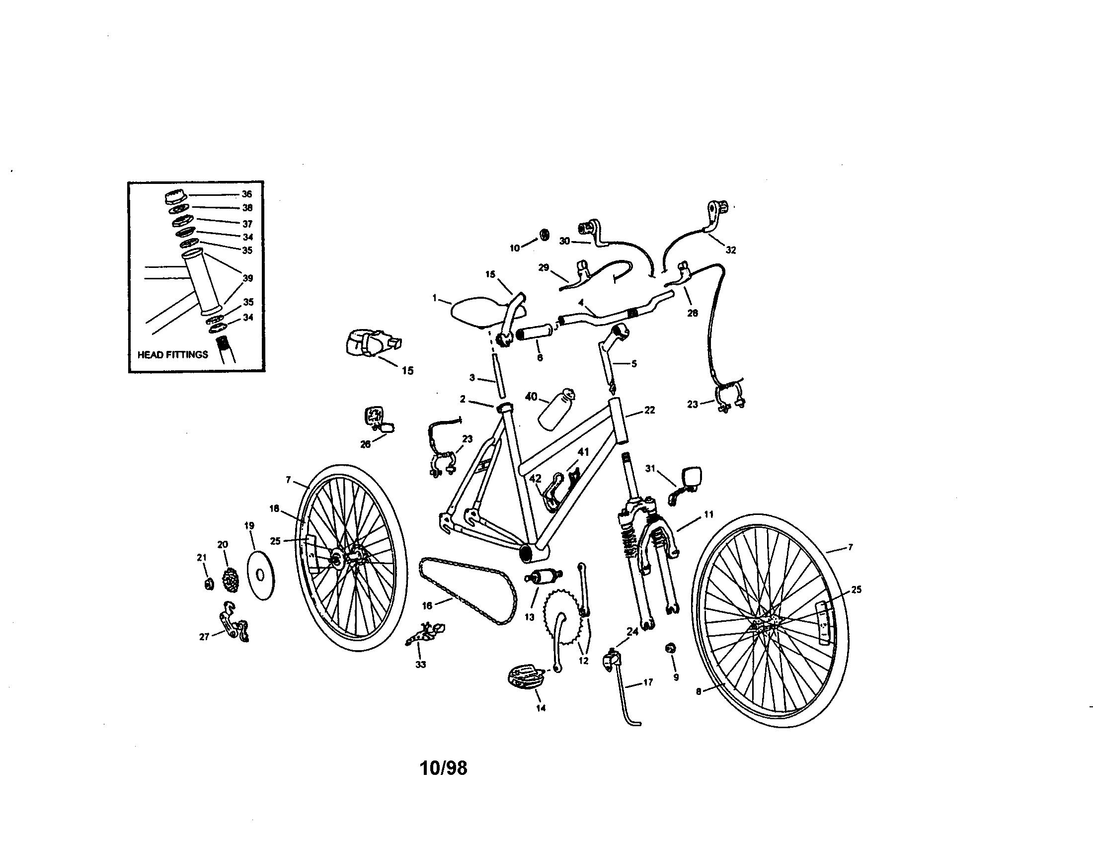 Roadmaster model 4439SR bicycles genuine parts