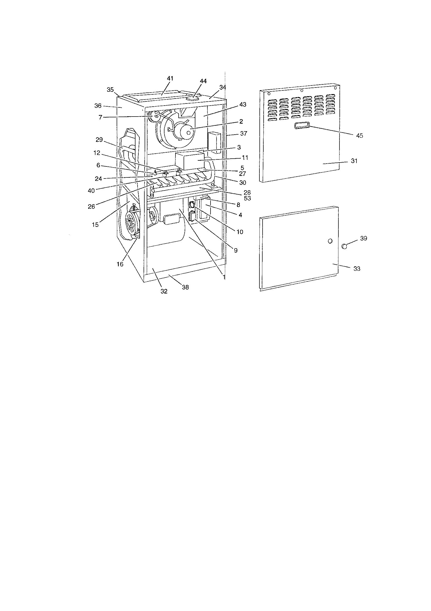 York model P3HUE30N13006 furnace/heater, gas genuine parts
