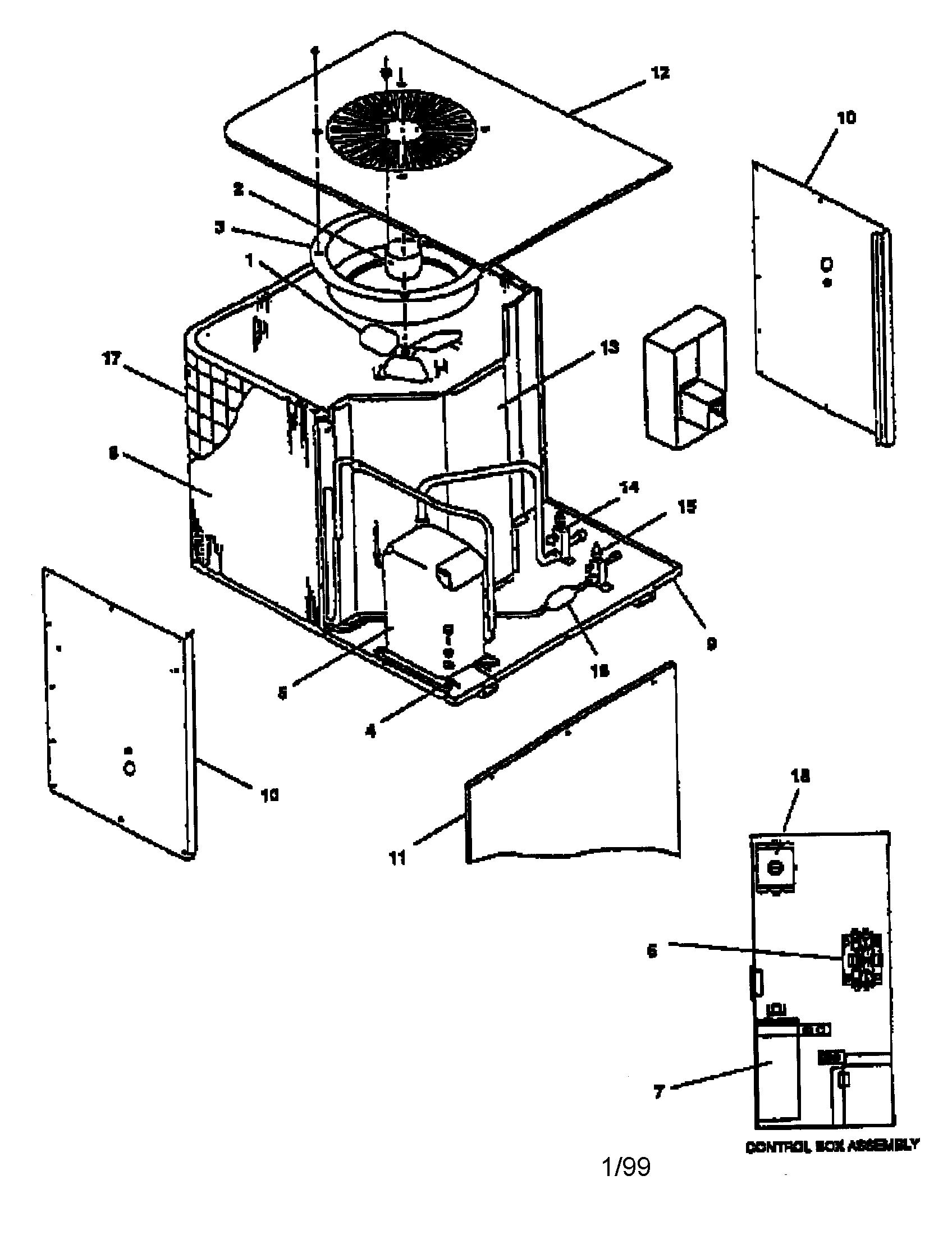 Goodman model CE48-3GB air-conditioner/heat pump(outside