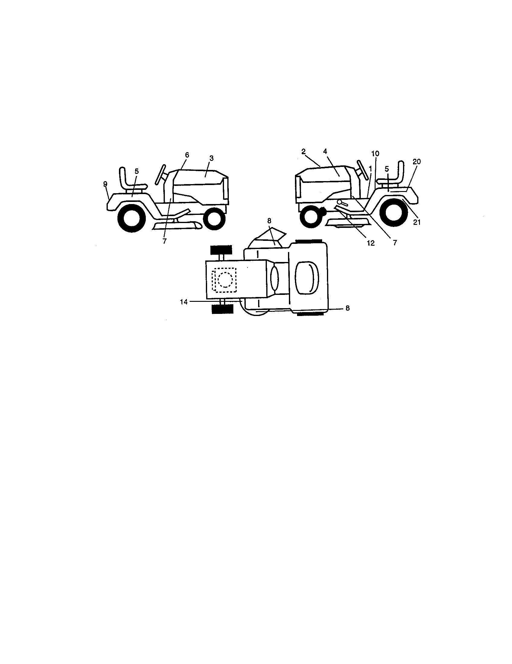 Craftsman model 917271090 lawn, tractor genuine parts