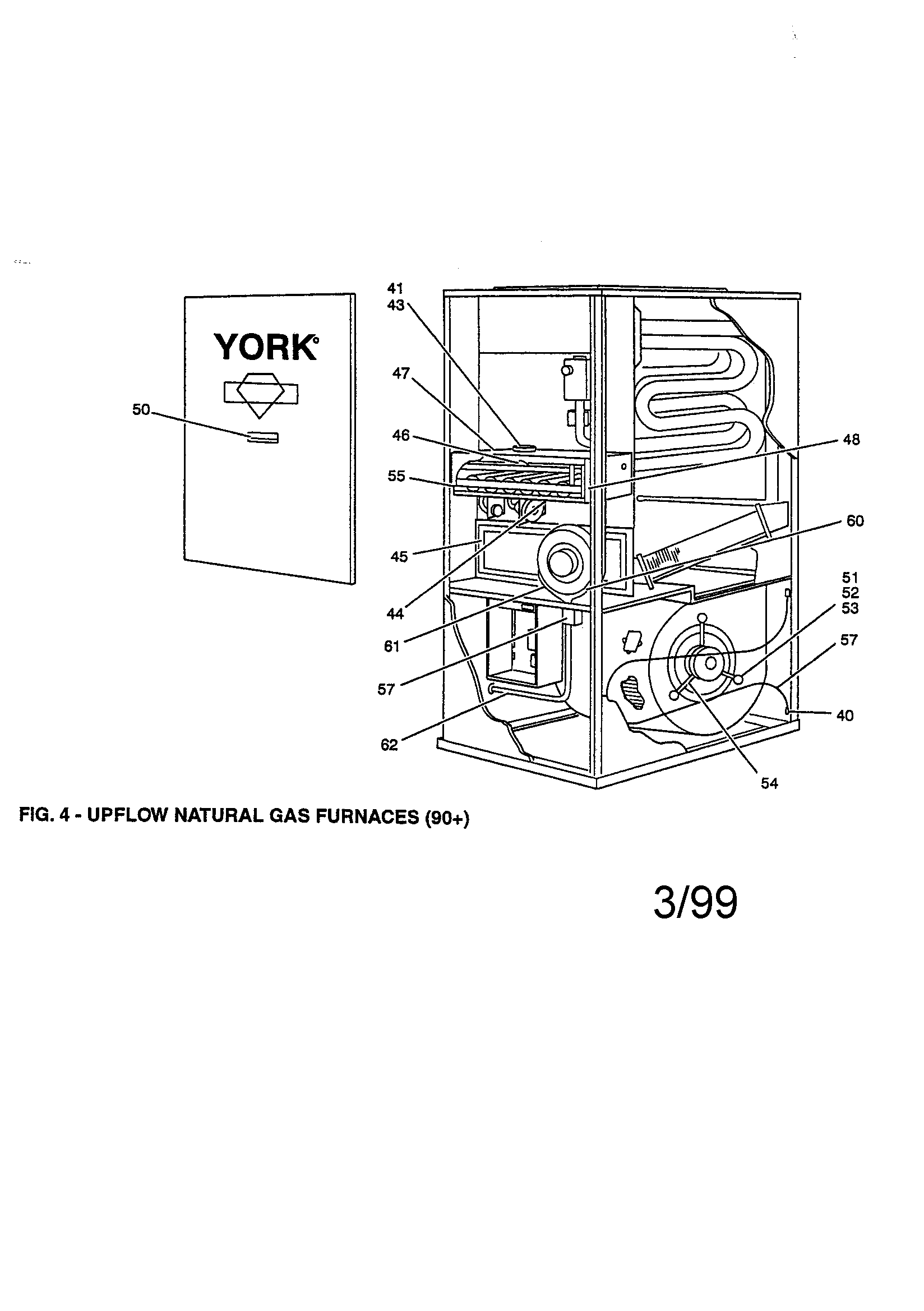 York model P3URD20N11201A furnace/heater, gas genuine parts