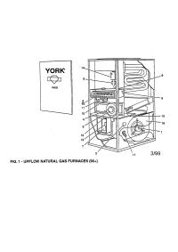 YORK UPFLOW NATURAL GAS FURNACE Parts | Model ...