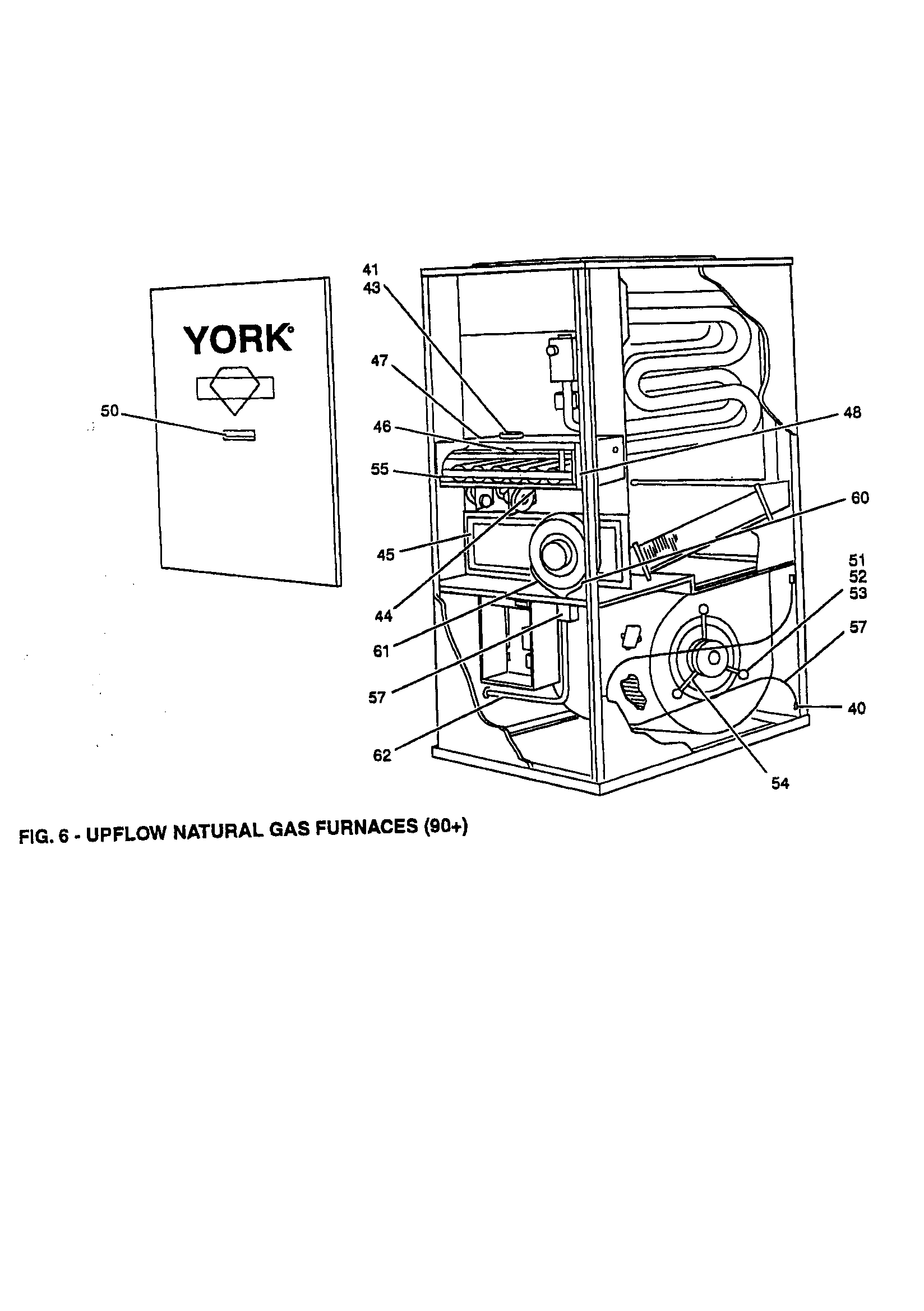 York model P3URD20N13001B furnace/heater, gas genuine parts