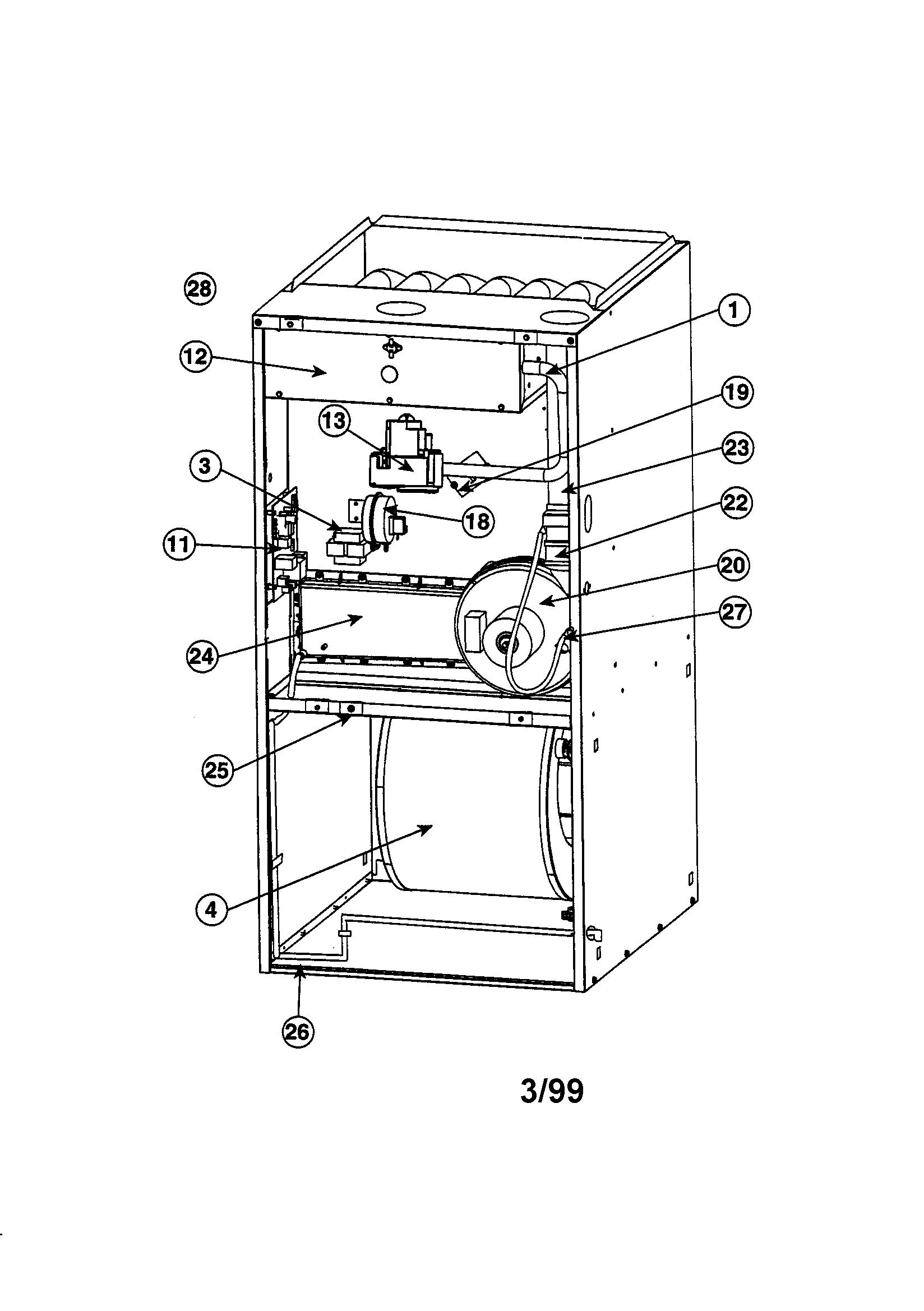 Thermal-Zone model GU080M16B furnace/heater, gas genuine parts