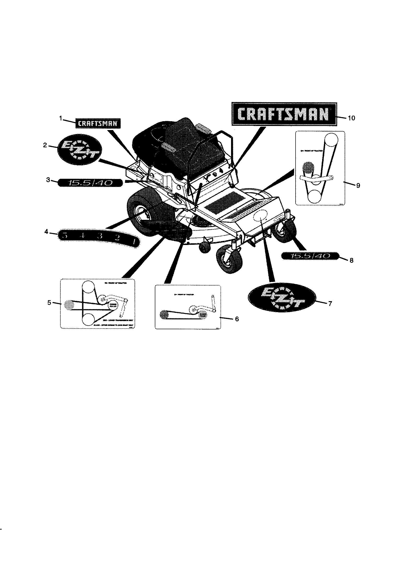 Craftsman model 102273920 lawn, tractor genuine parts