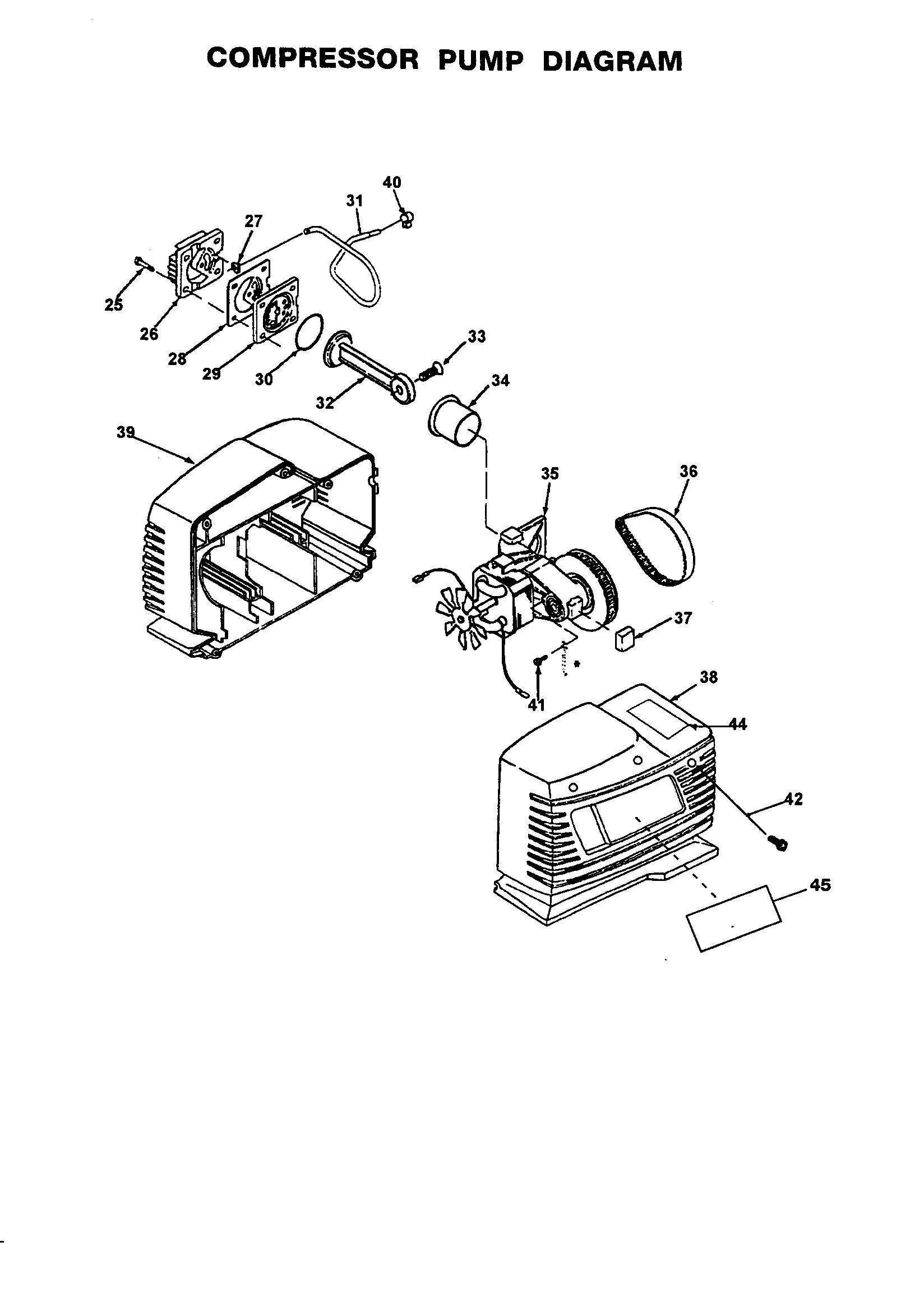 Craftsman model 919162121 air compressor genuine parts