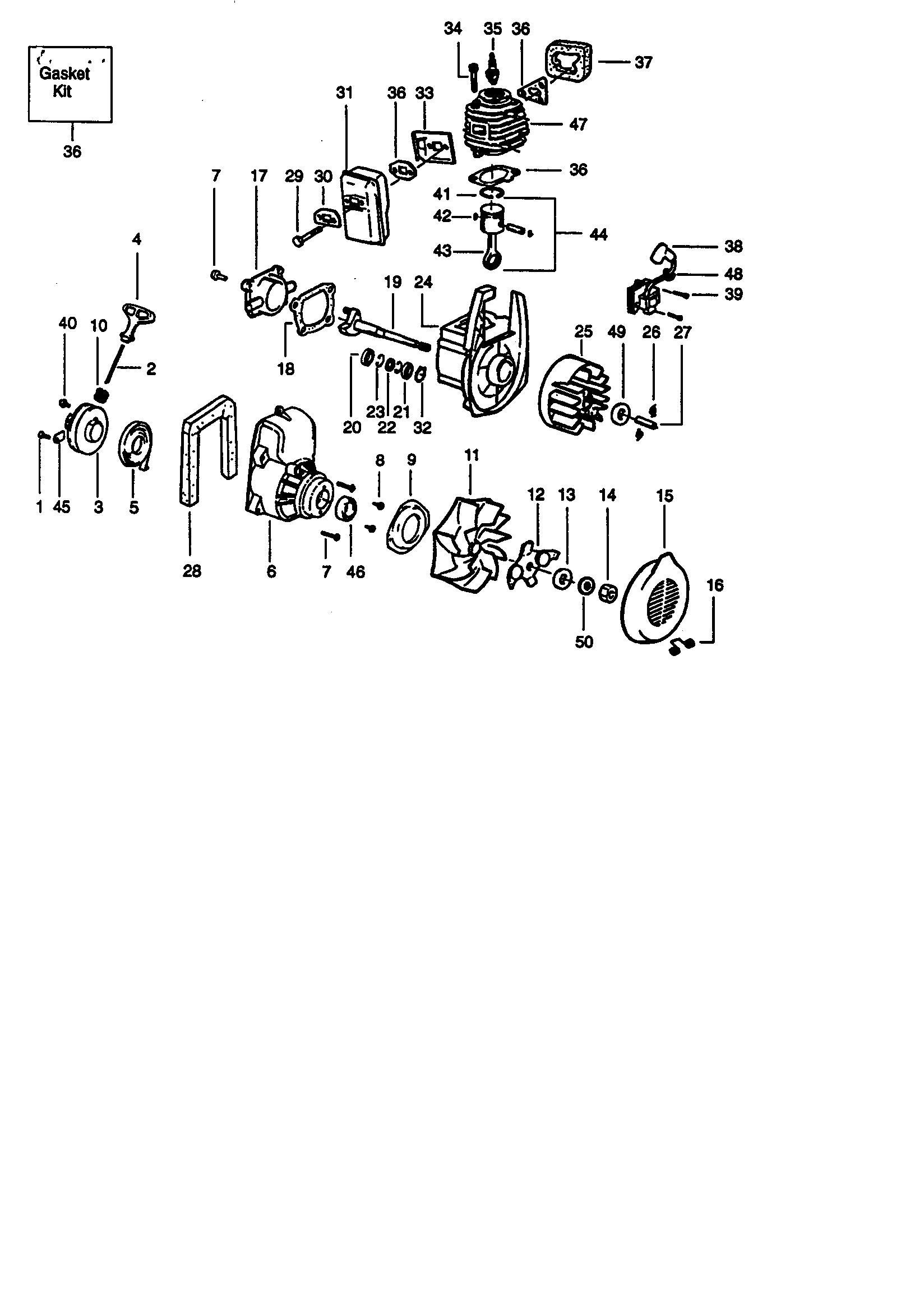 Craftsman model 358797931 blower, gas genuine parts