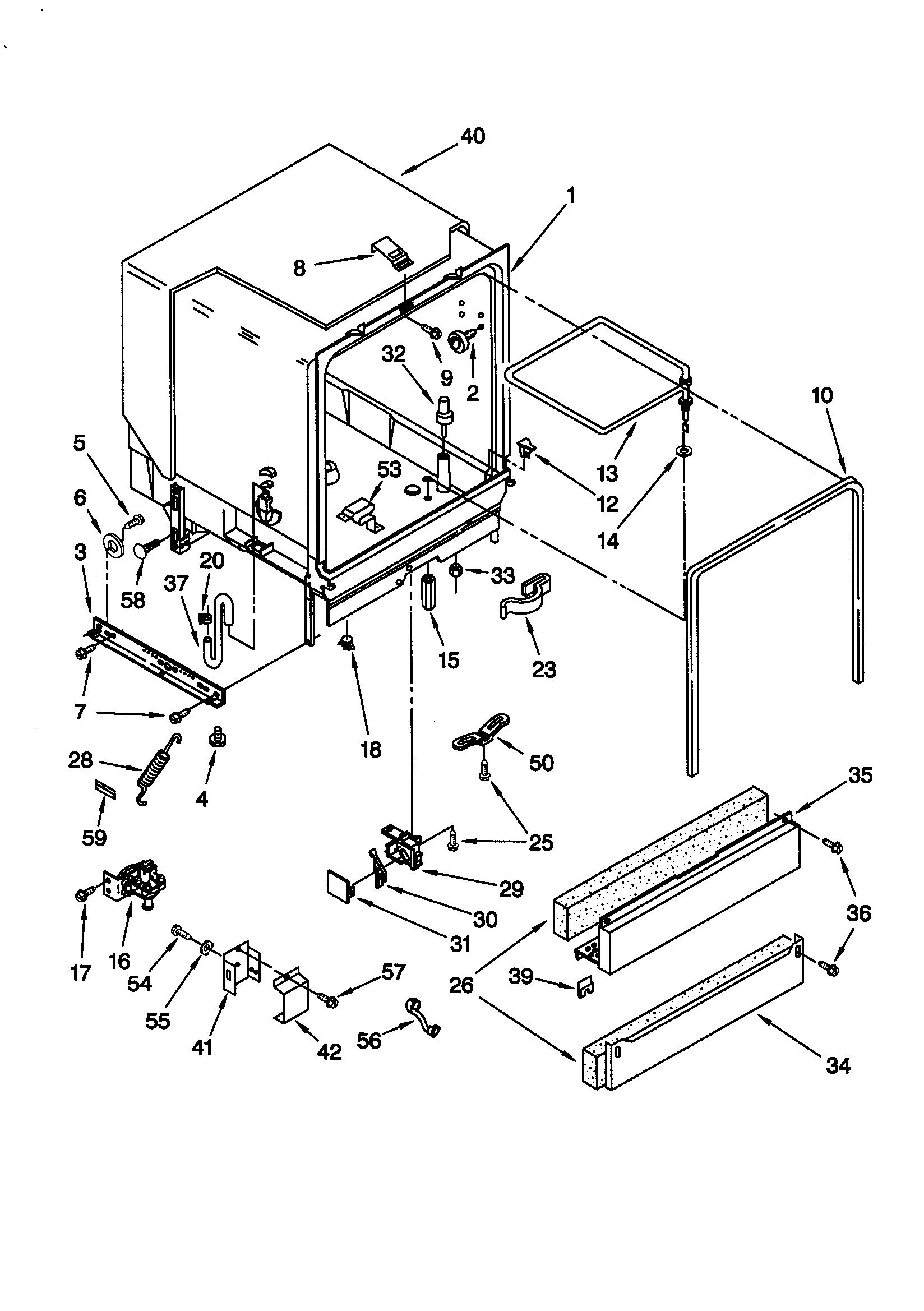 Whirlpool model GU940SCGB2 dishwasher genuine parts