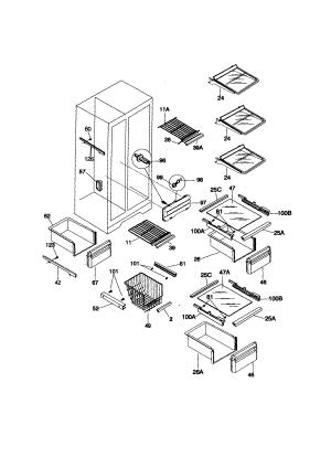 KENMORE SIDEBYSIDE REFRIGERATOR Parts | Model