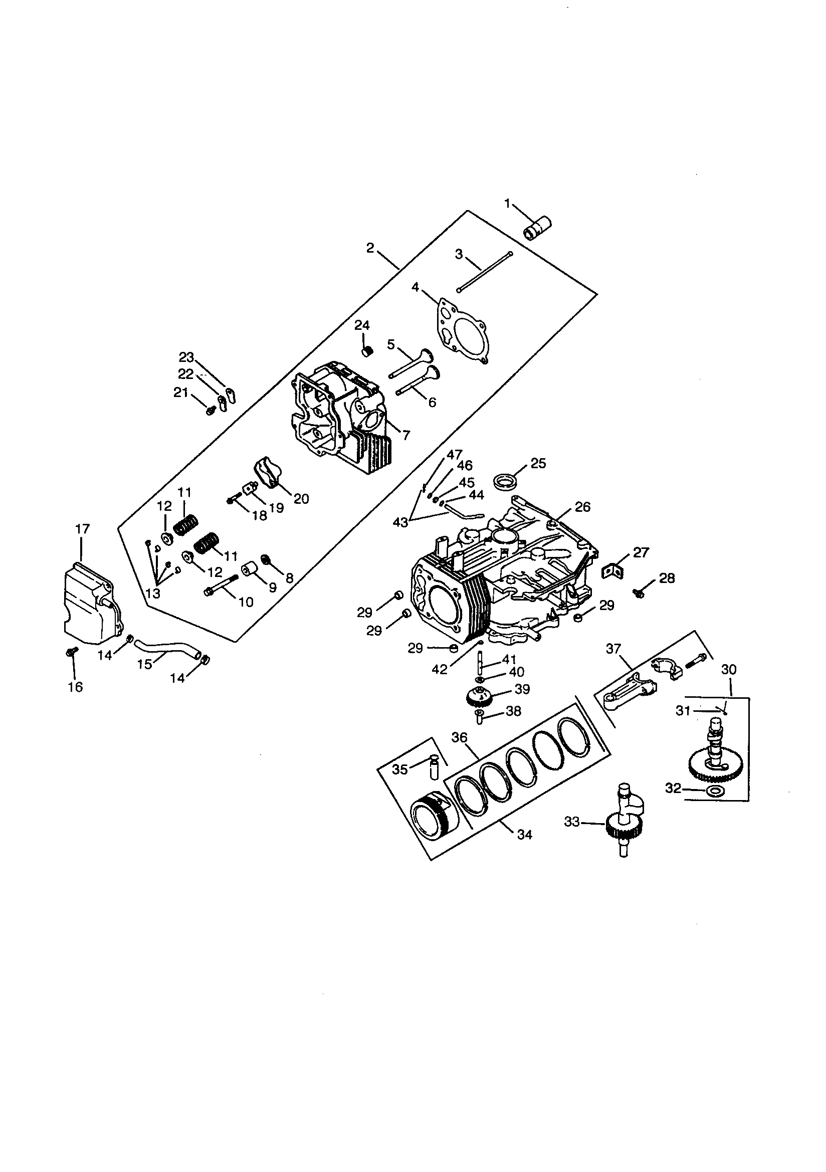 Kohler model CV15S-PS41588 engine genuine parts