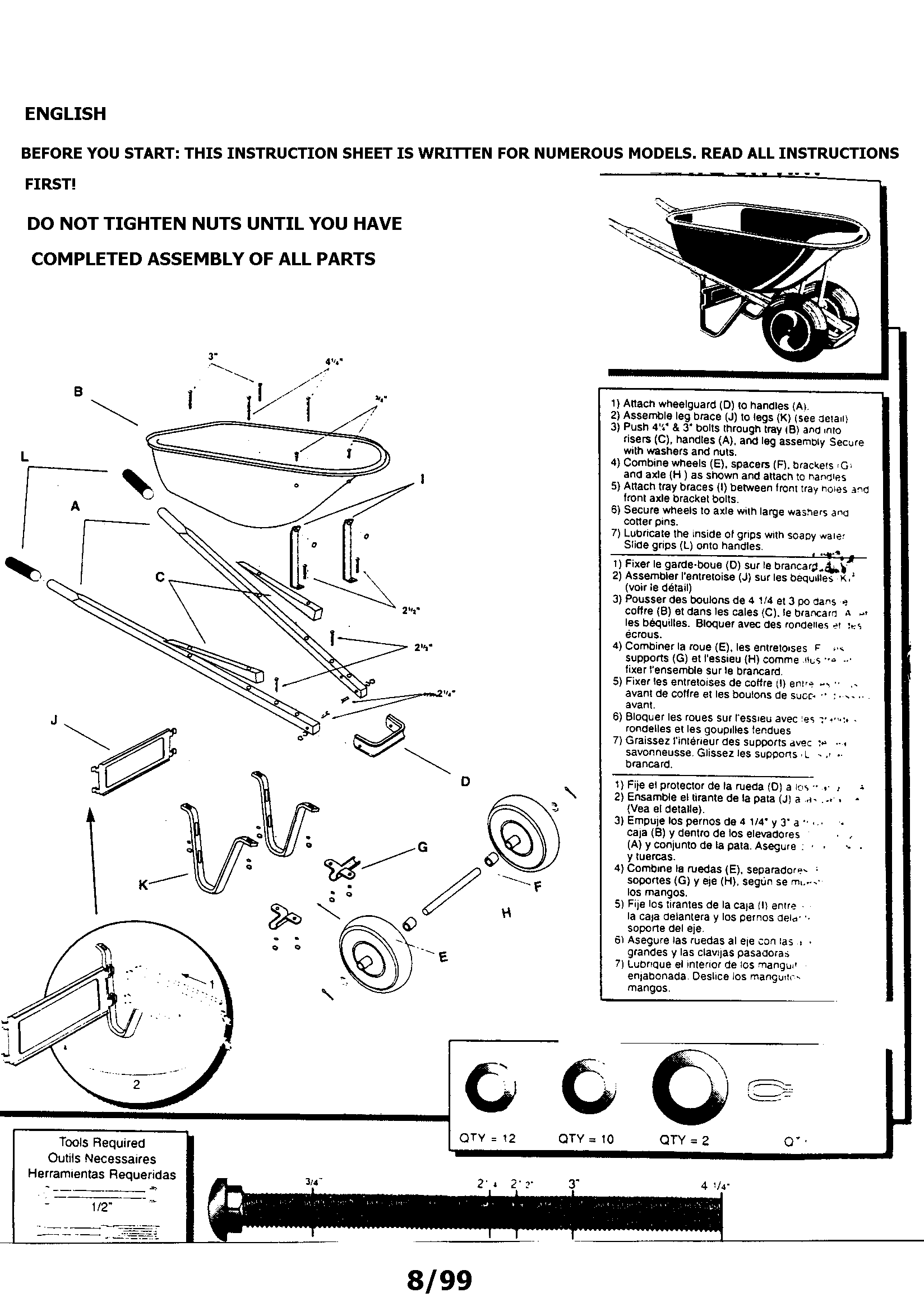 Craftsman model 87866 wheelbarrow genuine parts