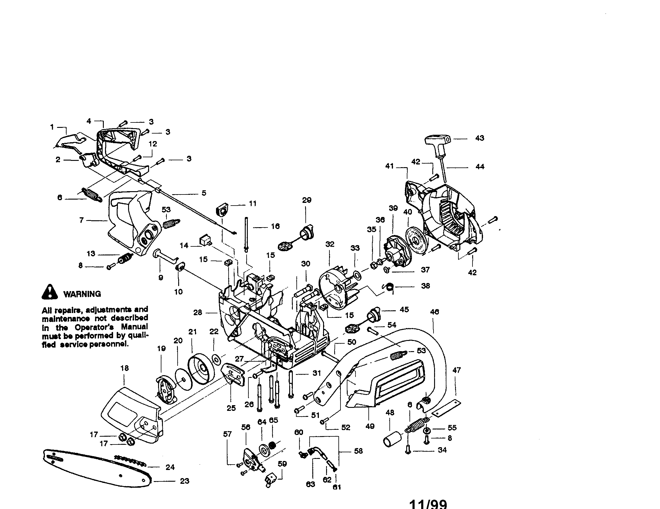 Chain Saw Diagram And Parts List For Craftsman