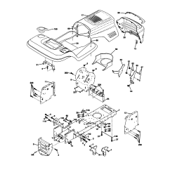 Craftsman Lawn Tractor Parts Diagram Ge Cooktop Stove Wiring Model 917270912 Genuine Chassis