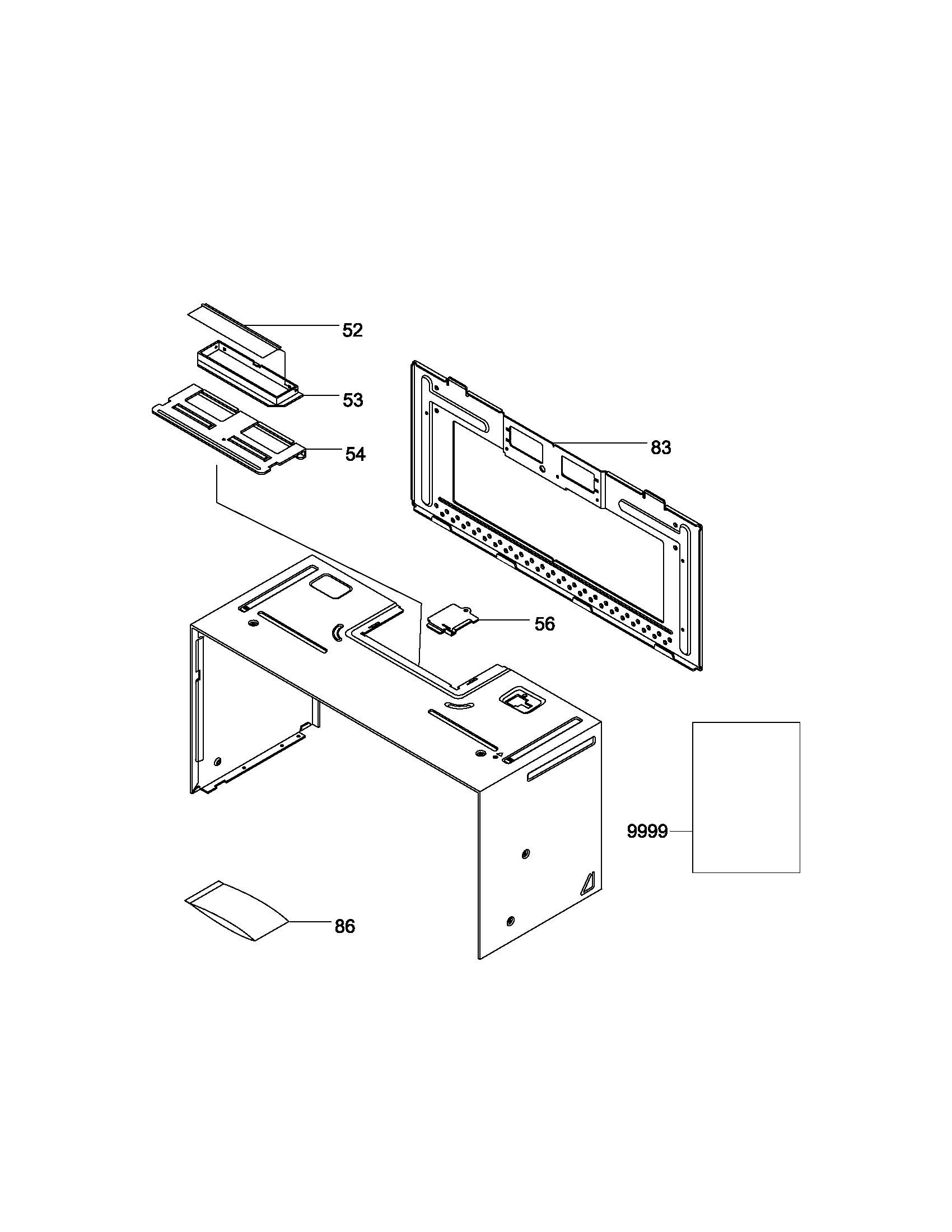 Frigidaire model GLMV168KB2 microwave/hood combo genuine parts