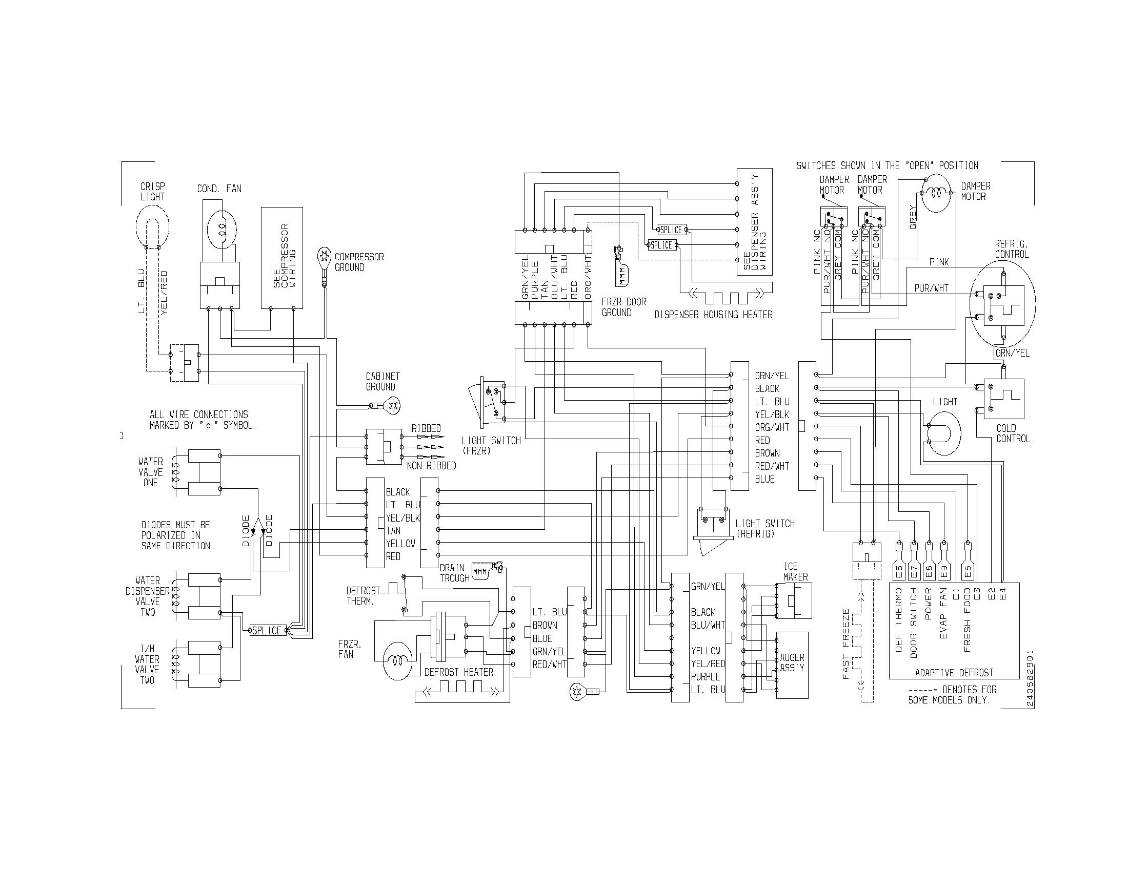 Frigidaire model PLRS267ZAB8 side-by-side refrigerator