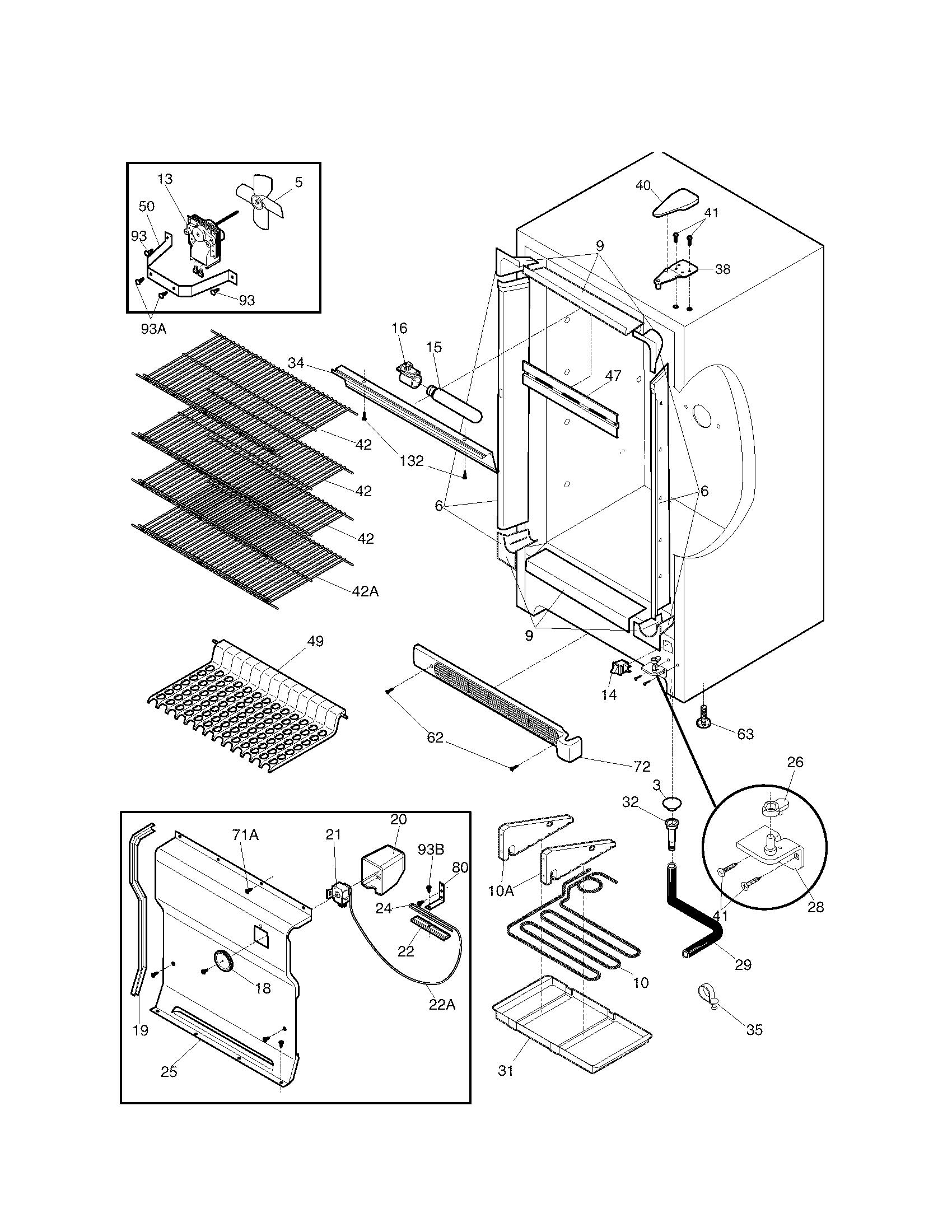 Kenmore model 25360722000 all refrigerator genuine parts