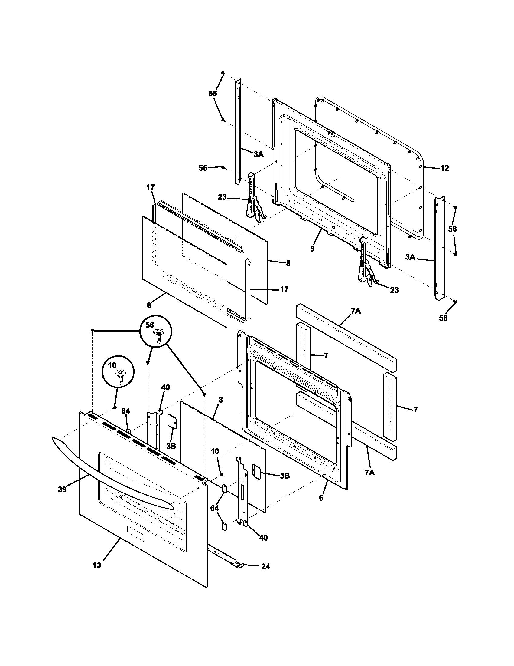 Frigidaire model PLEB30S9DCA built-in oven, electric