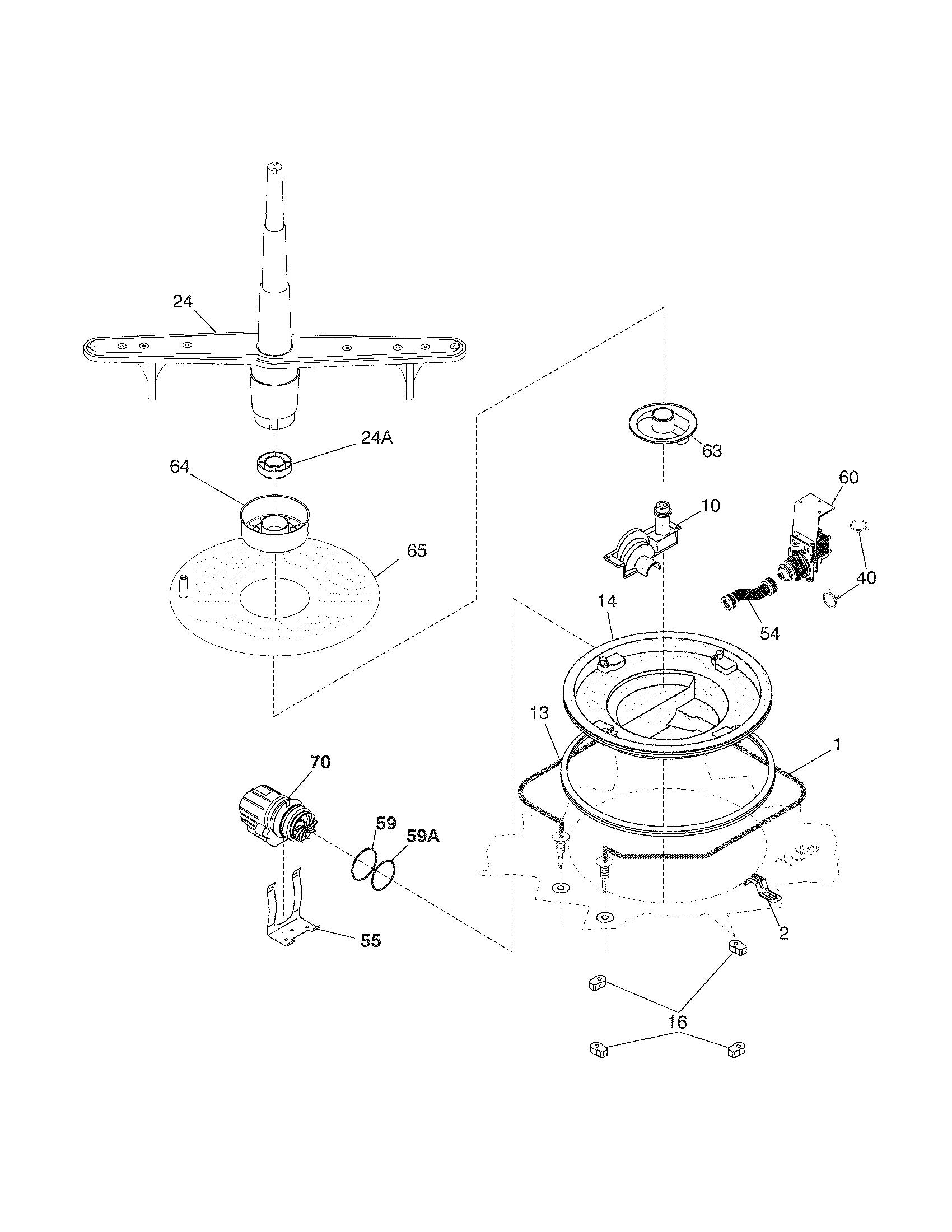 Frigidaire model FDB130RGS1 dishwasher genuine parts