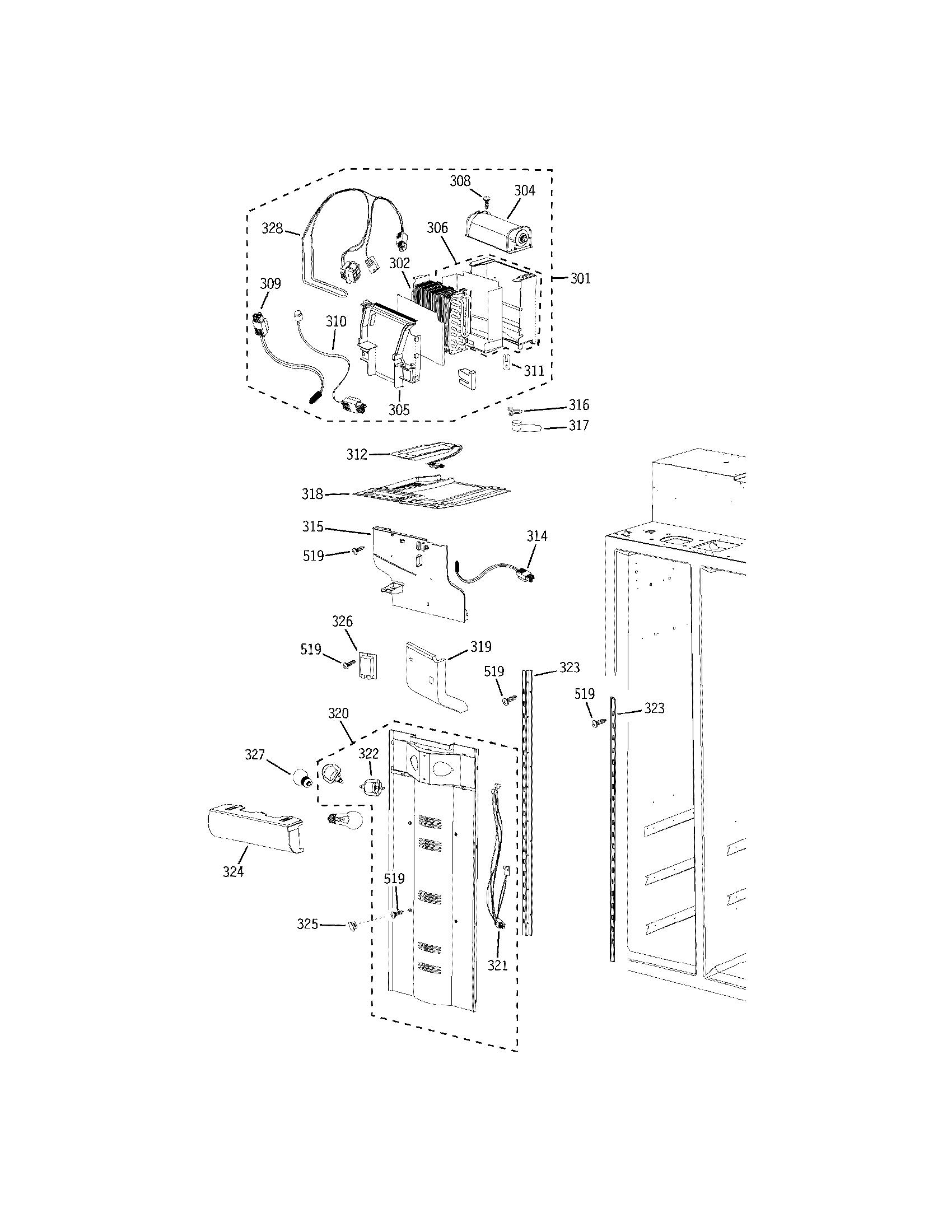 Electrolux model E42BS75EPS side-by-side refrigerator