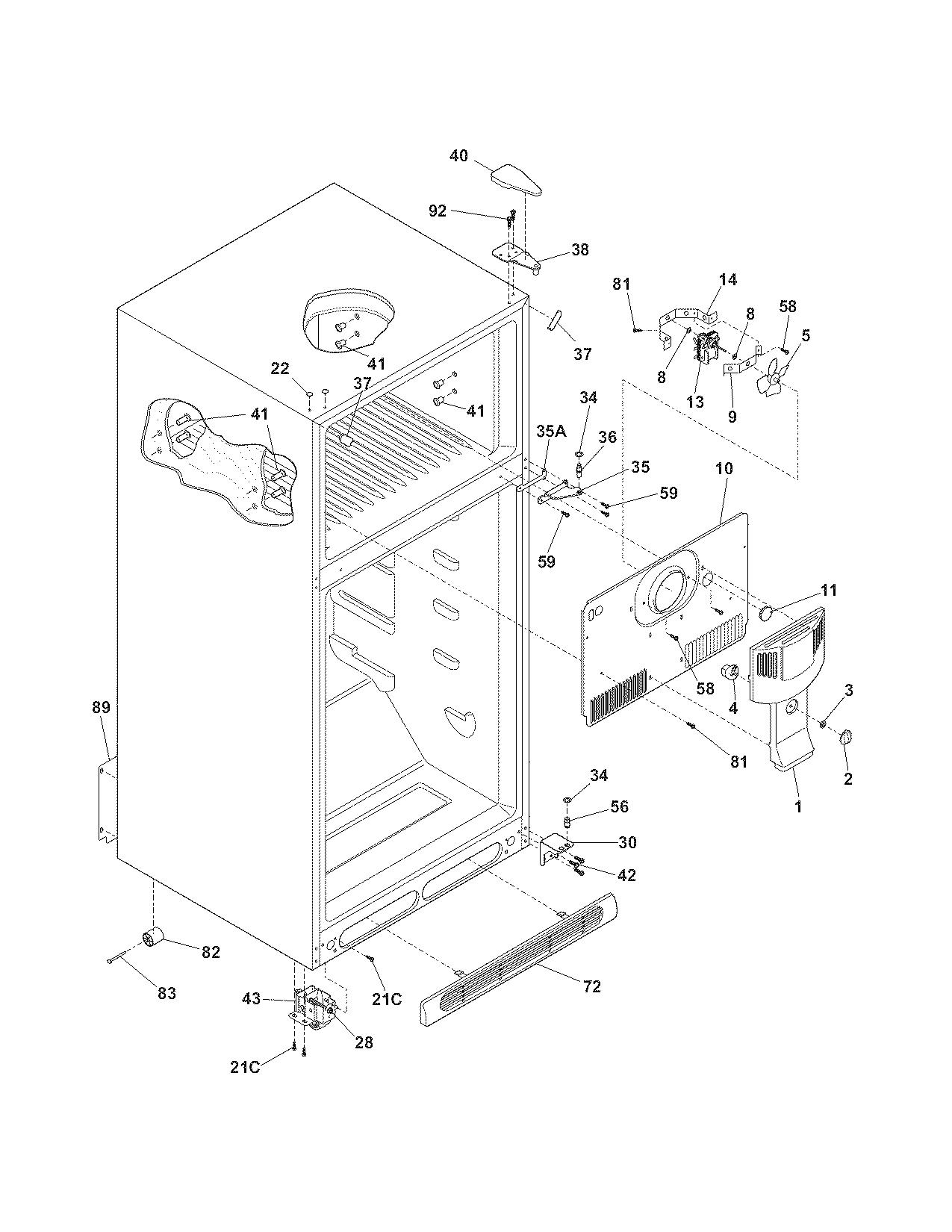 Kenmore model 25378172800 top-mount refrigerator genuine parts