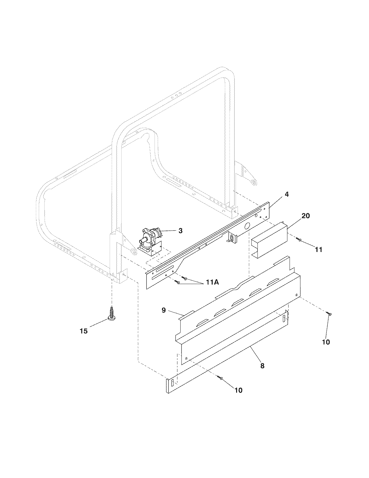Frigidaire model PLD4375RFC0 dishwasher genuine parts