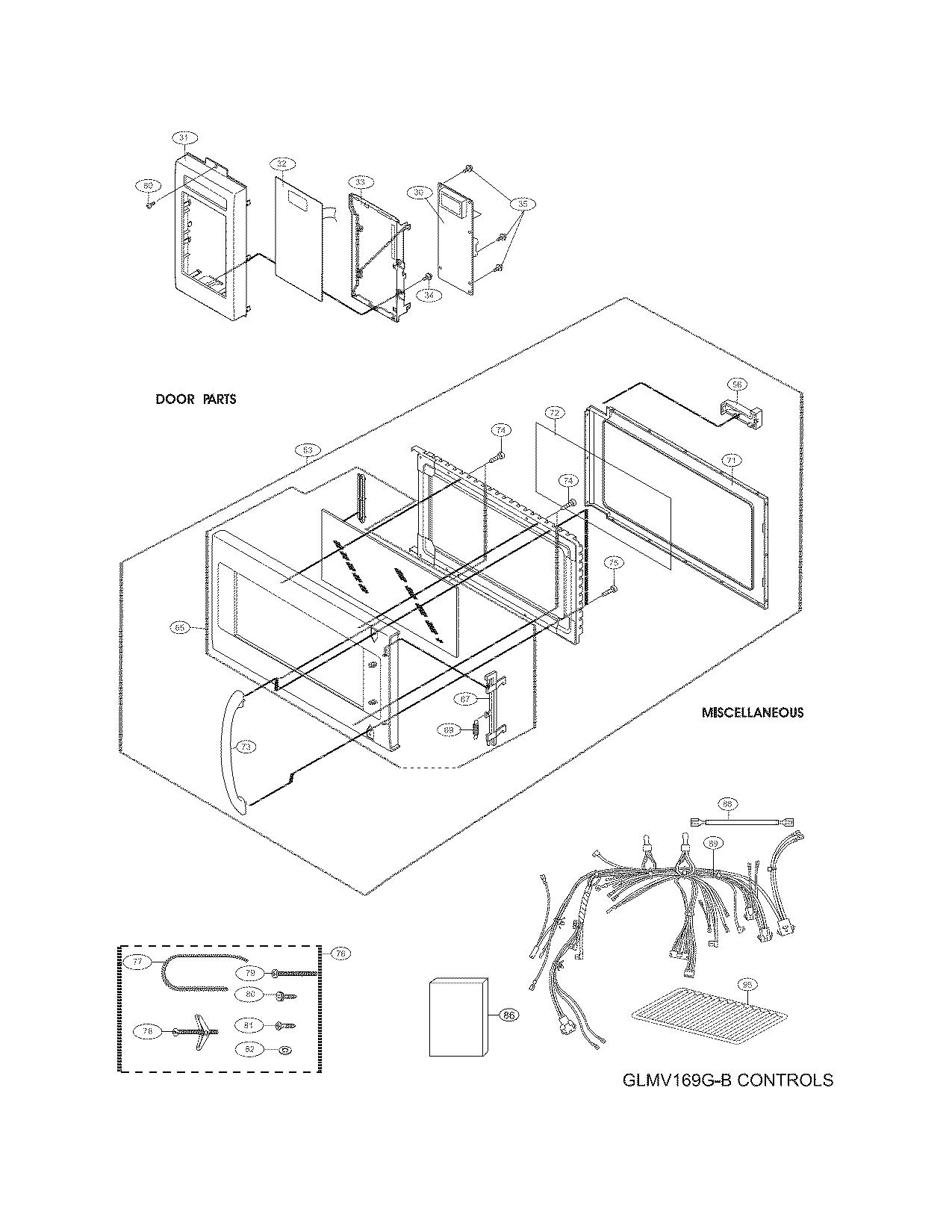 Frigidaire model PLMVZ169GCC microwave/hood combo genuine