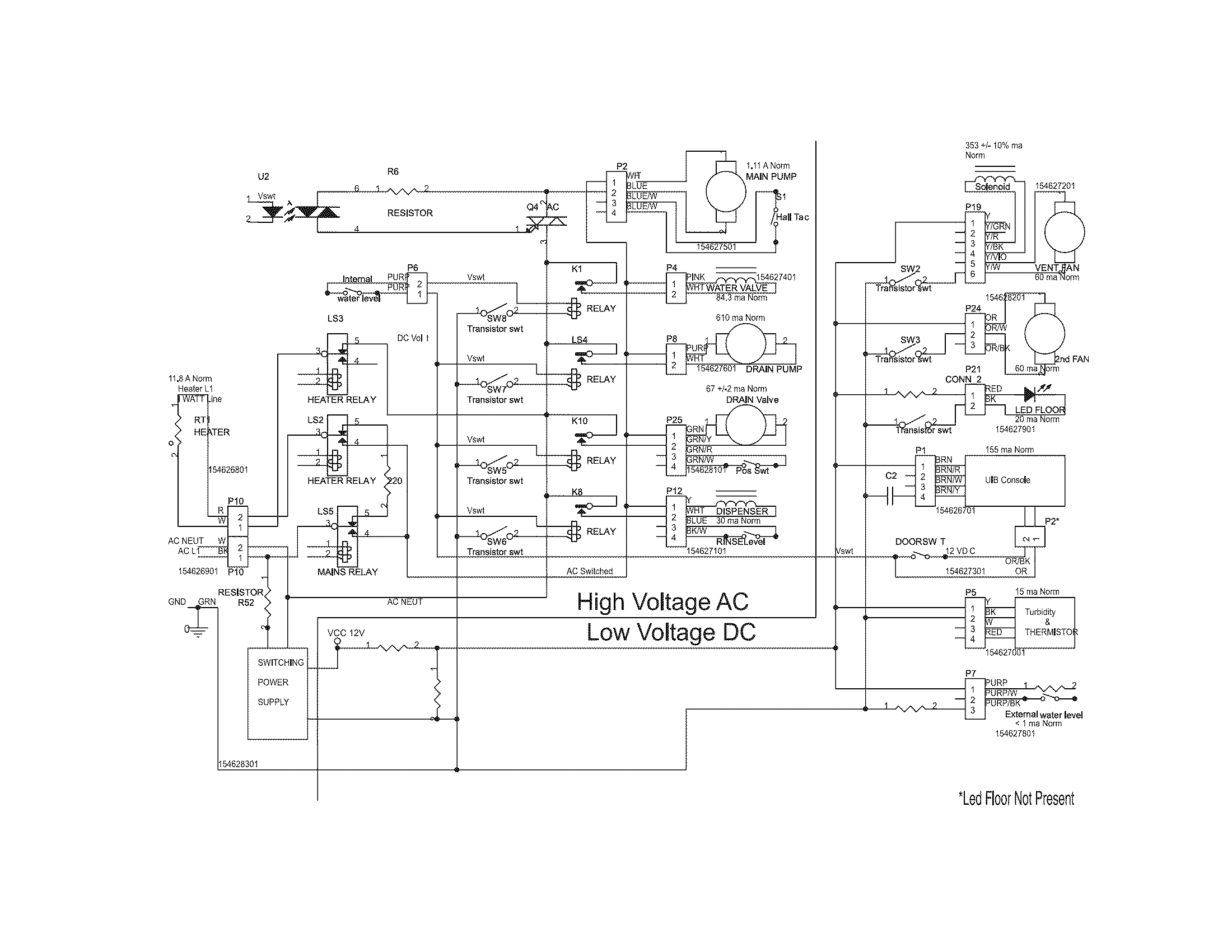 Electrolux model EIDW6105GS1A dishwasher genuine parts