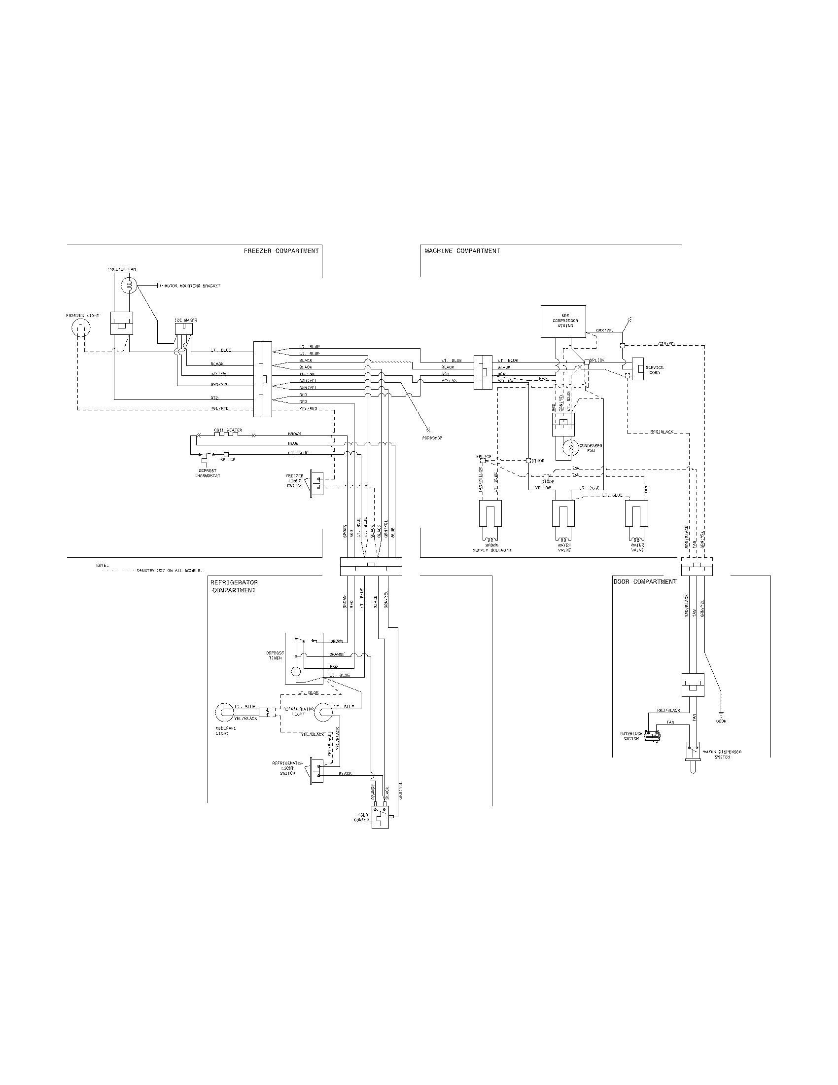 Frigidaire model FFHI1817LB0 top-mount refrigerator
