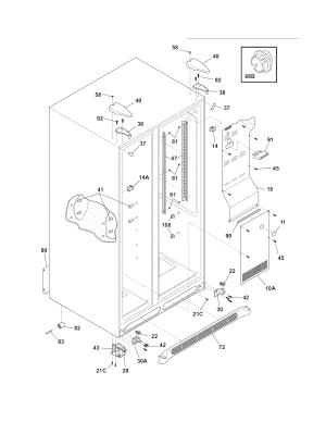 FRIGIDAIRE REFRIGERATOR Parts | Model ffhs2611lw4 | Sears