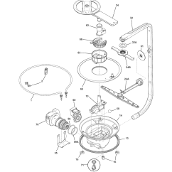 Frigidaire Gallery Dishwasher Parts Diagram Simple Vehicle Wiring Model Fphd2485nf0a Sears