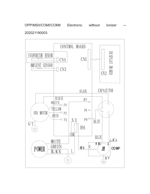 small resolution of  frigidaire model cra127ct113 air conditioner room genuine parts on basic receptacle wiring basic ac air conditioner wiring diagram