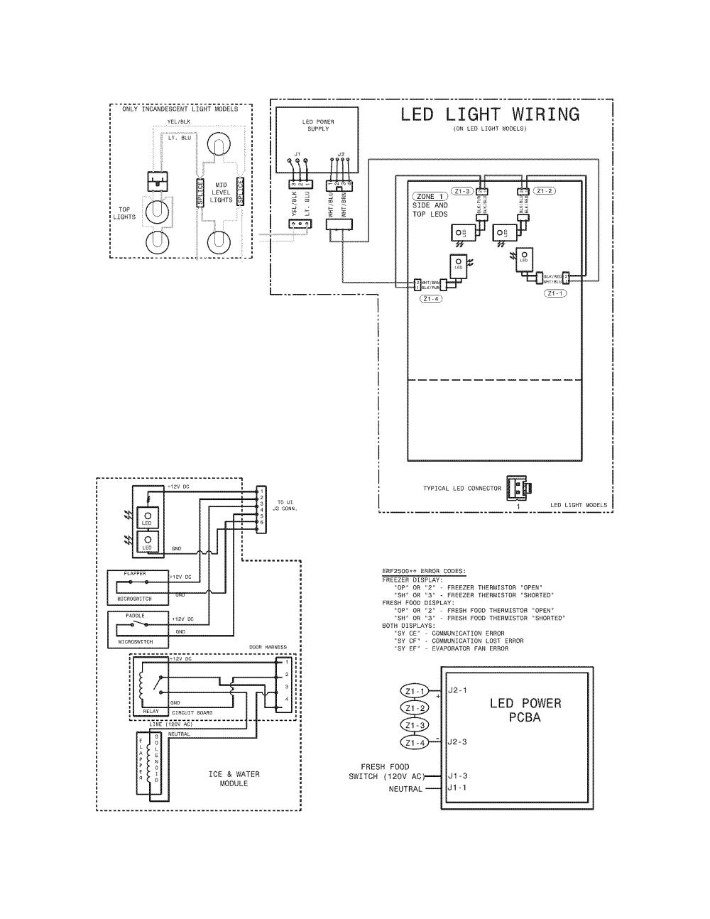 medium resolution of frigidaire refrigerator parts model fphf2399mf6 sears electric guitar pickup wiring diagrams kenmore upright freezer wiring diagram
