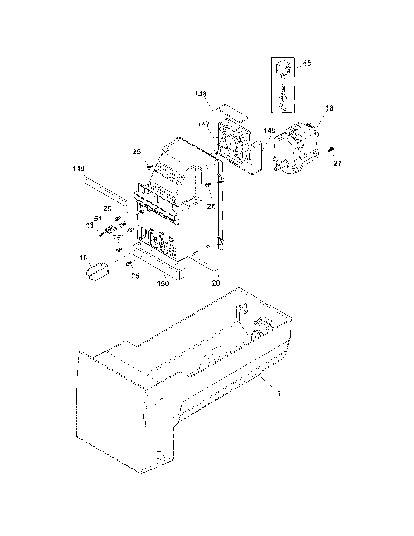 Electrolux model EI23BC35KS5 bottom-mount refrigerator