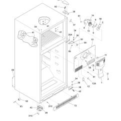 How A Freezer Works Diagram Mono Microphone Wiring Frigidaire Model Fftr2126ps7 Top Mount Refrigerator