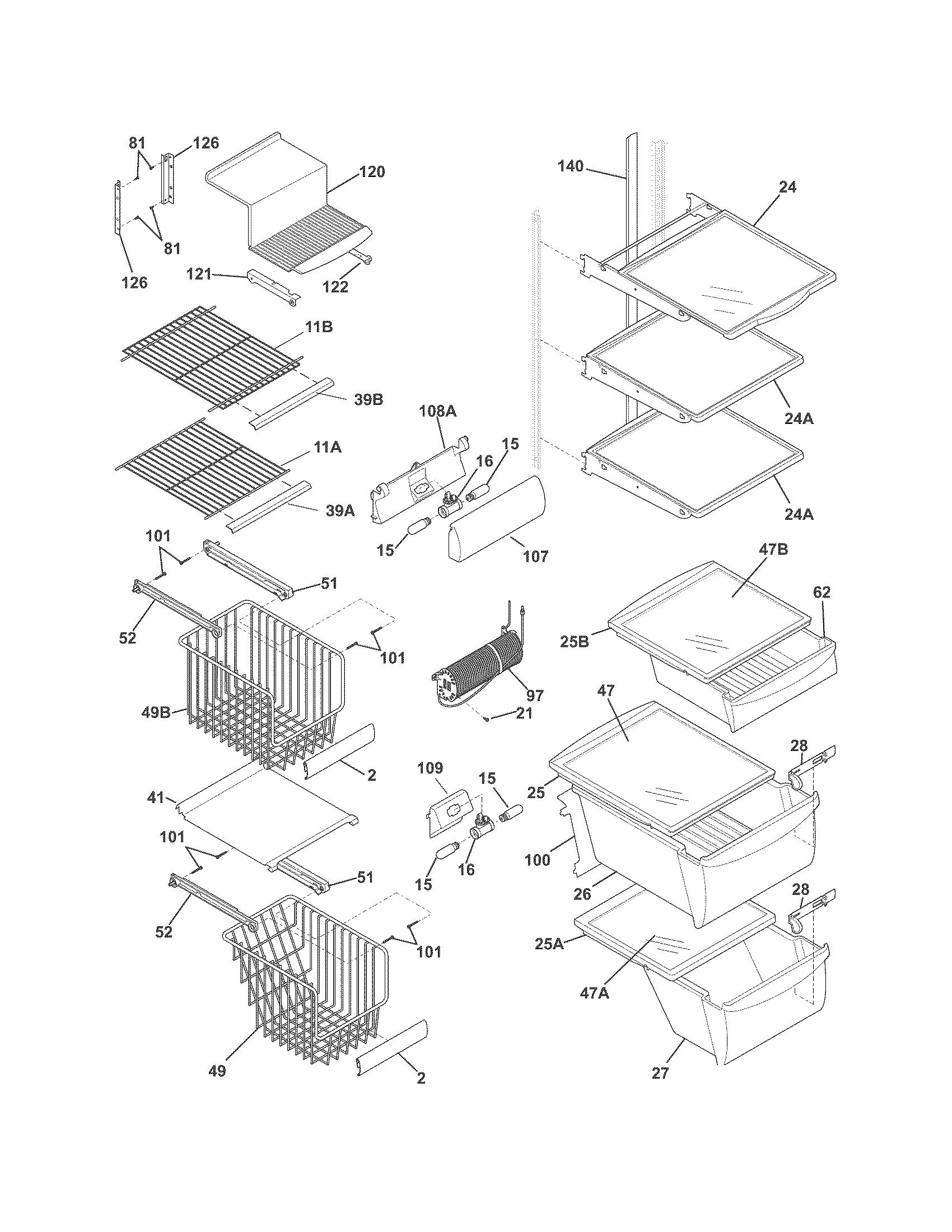 Frigidaire model FGHC2331PF0 side-by-side refrigerator