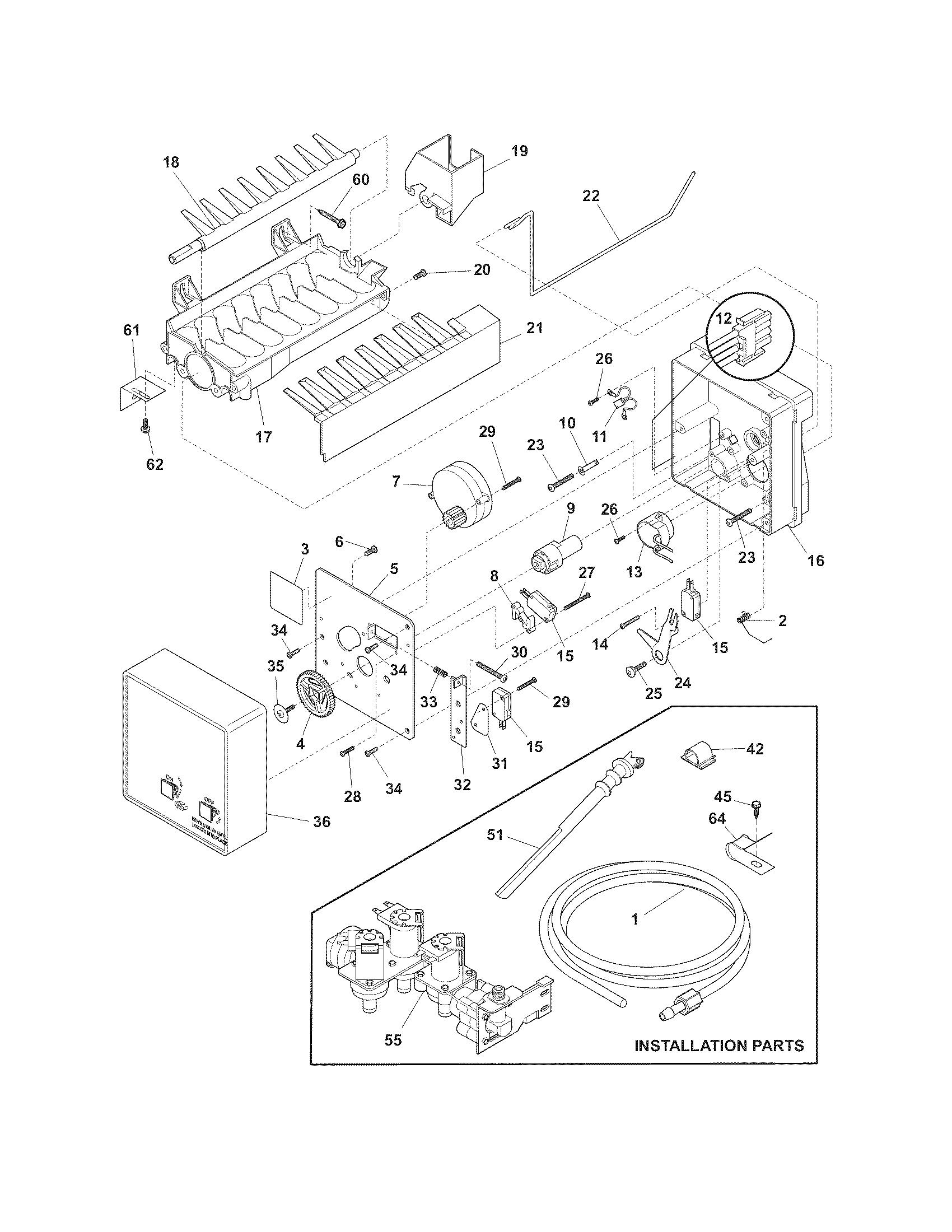 ice maker diagram whelen wig wag wiring frigidaire refrigerator parts model ffhs2622msf sears