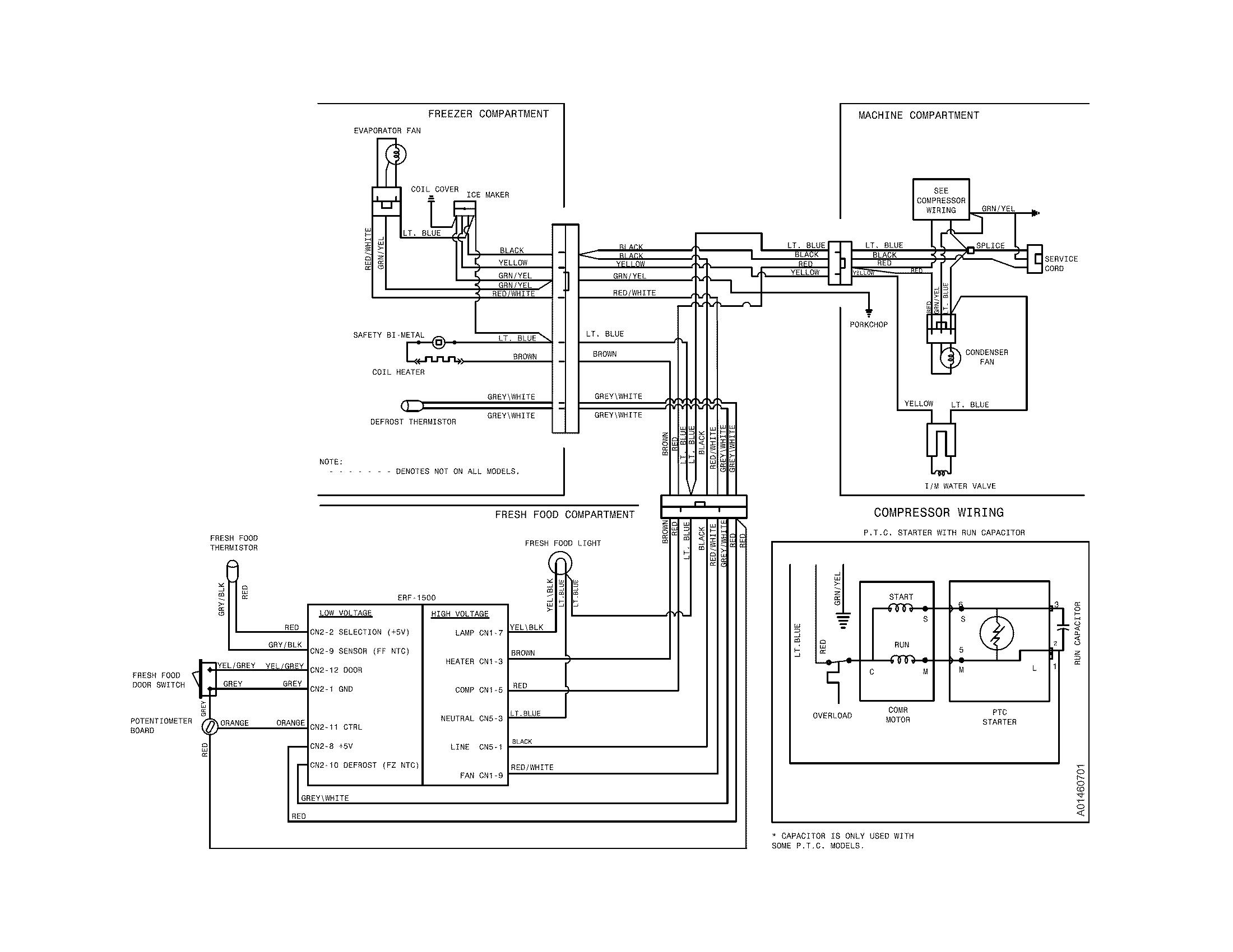 wiring diagram of frost refrigerator