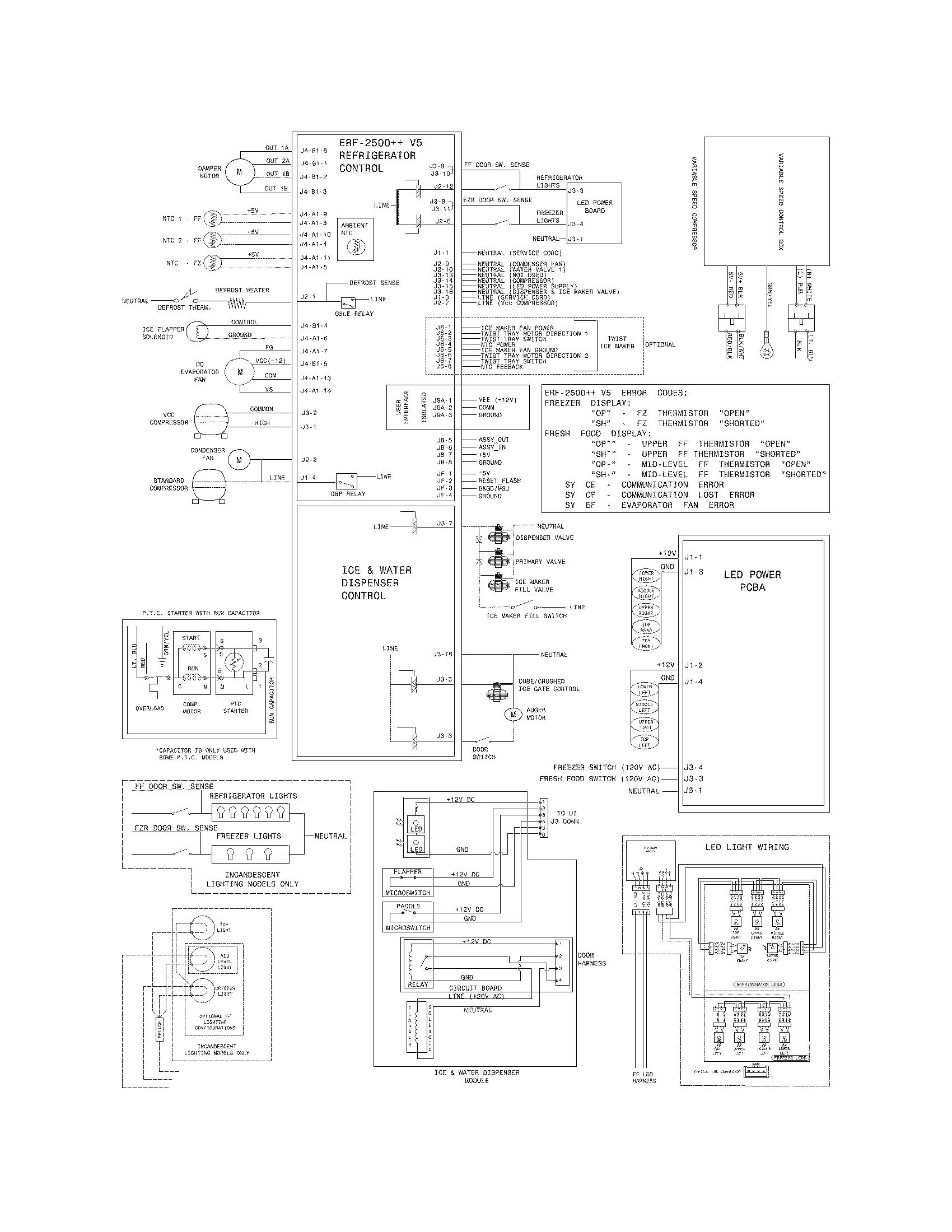 frost refrigerator wiring diagram