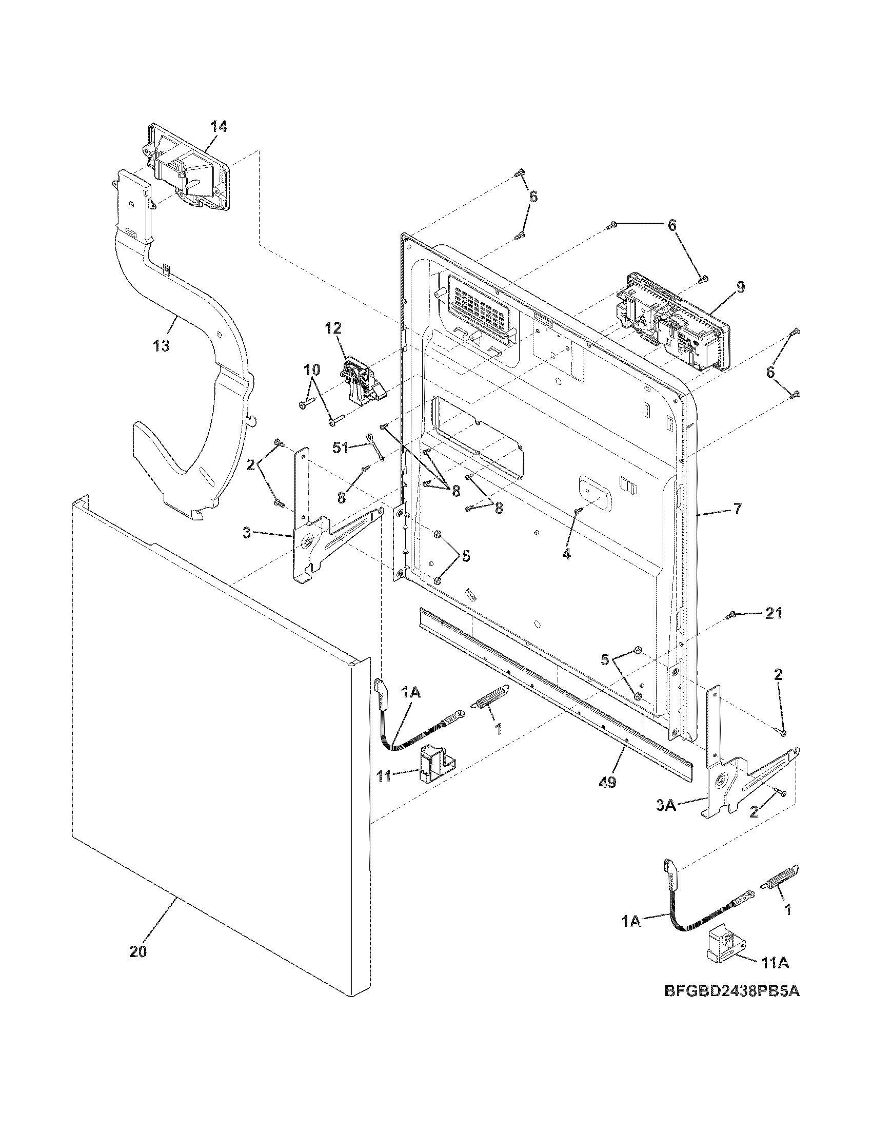 frigidaire dishwasher wiring diagrams