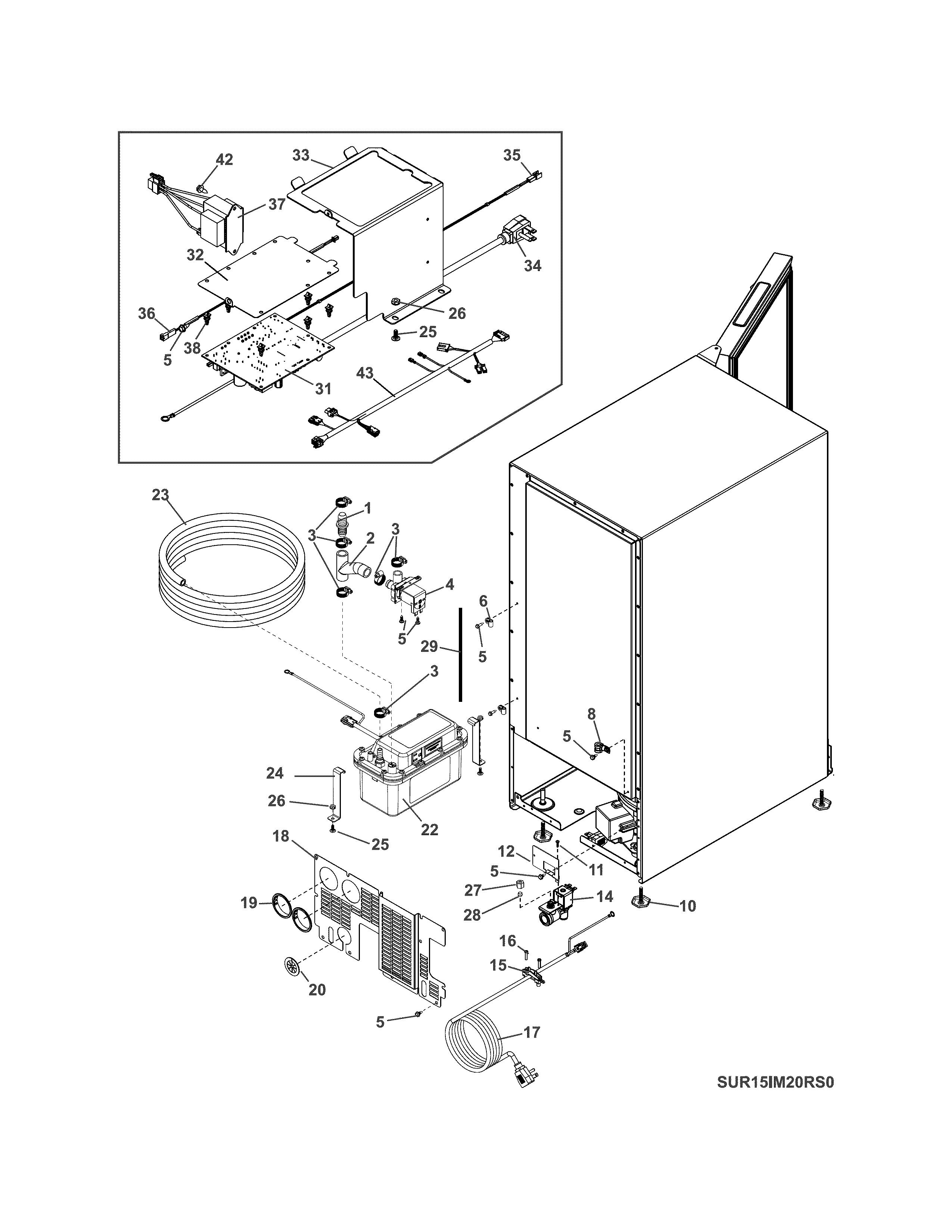Electrolux model UR15IM20RS0 freestanding icemaker genuine