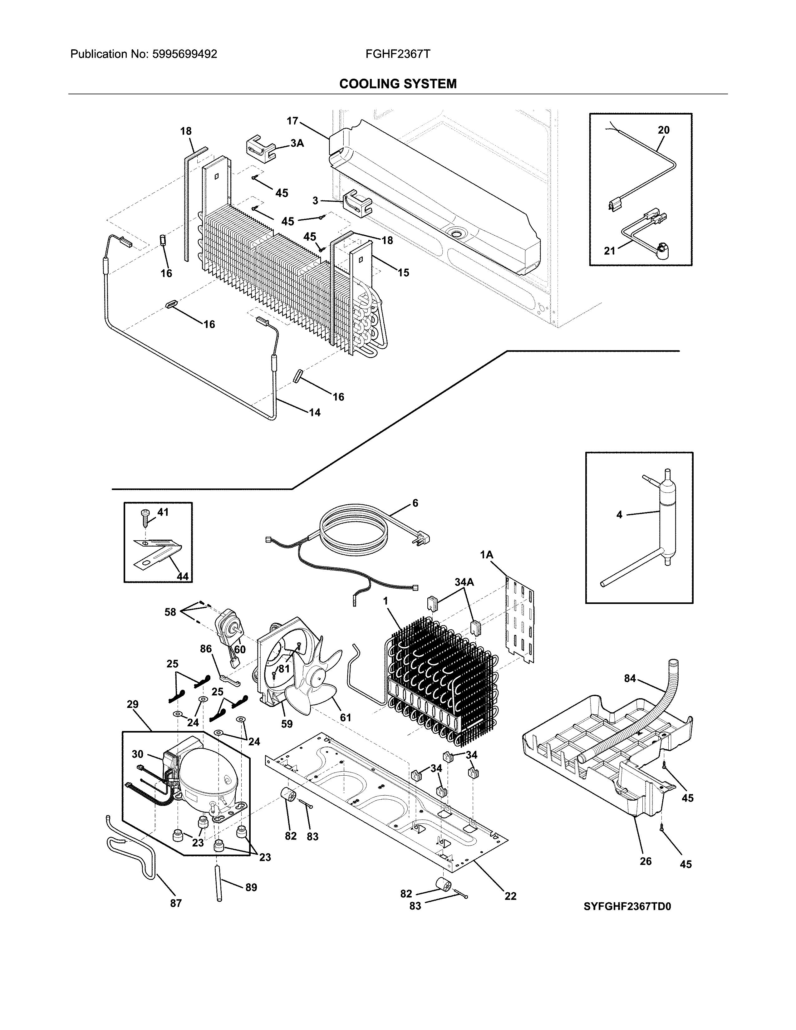 Frigidaire model FGHF2367TD1 bottom-mount refrigerator