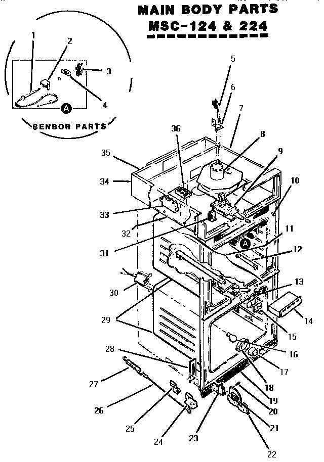 Thermador model MSC224 ranges, electric genuine parts