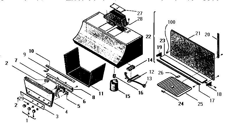Thermador model H-65 range hood genuine parts
