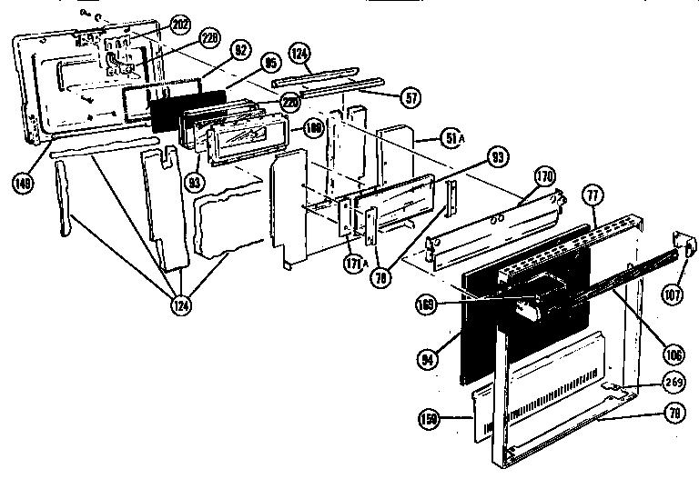 Thermador model CMT21 SVC CODE J range microwave combo
