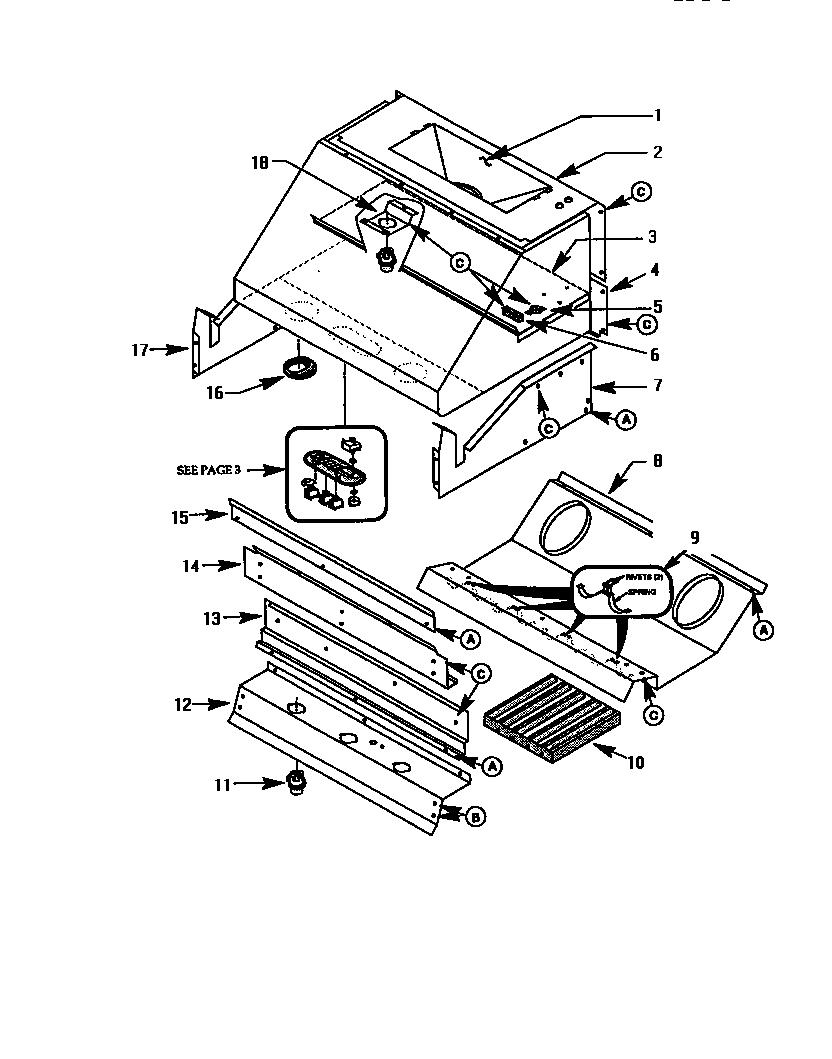 Thermador model PH-SERIES range hood genuine parts