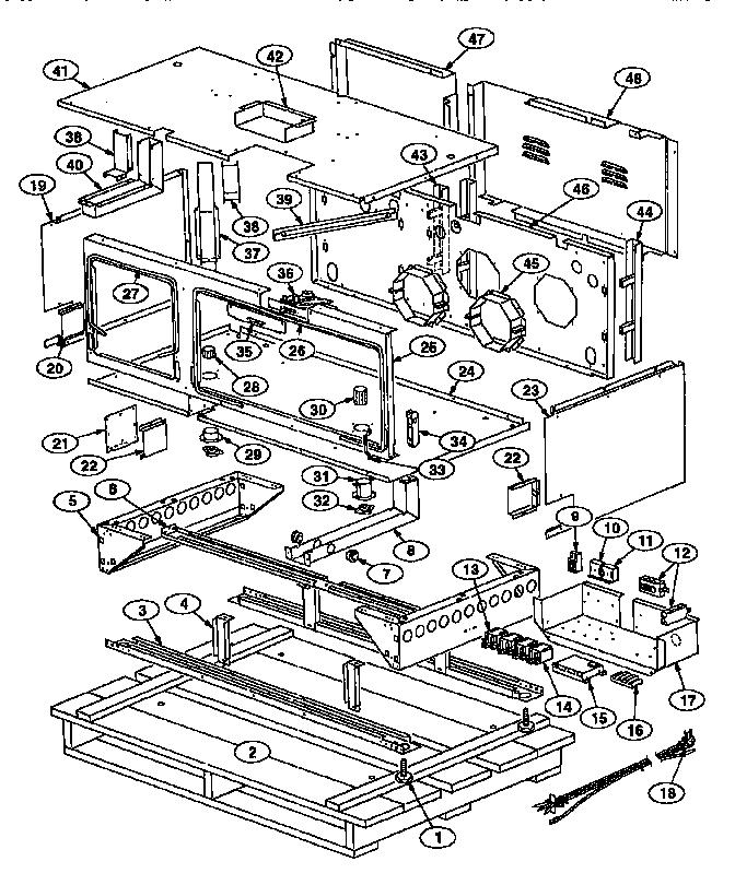 Thermador model PRSE48-4GG slide-in range, electric