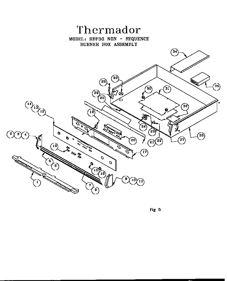 Thermador model RDF30RS (9707 & UP) range, electric/gas